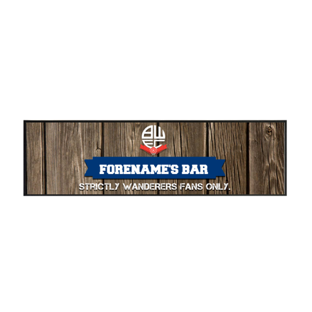 Bolton Wanderers FC Wood Name Large Bar Runner