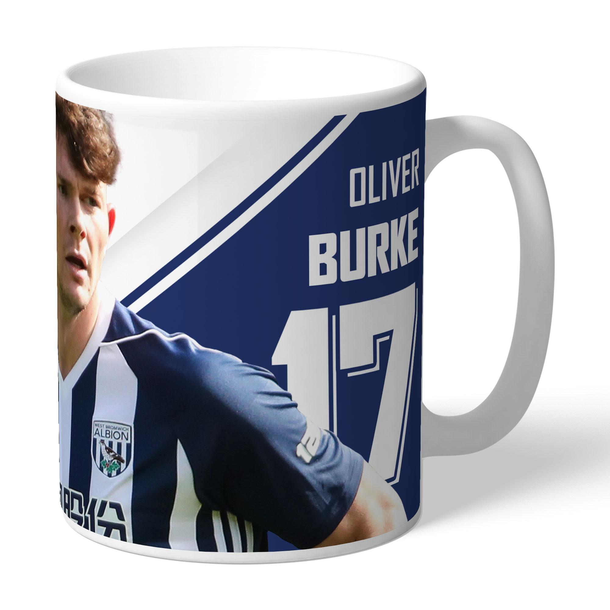 West Bromwich Albion FC Burke Autograph Mug