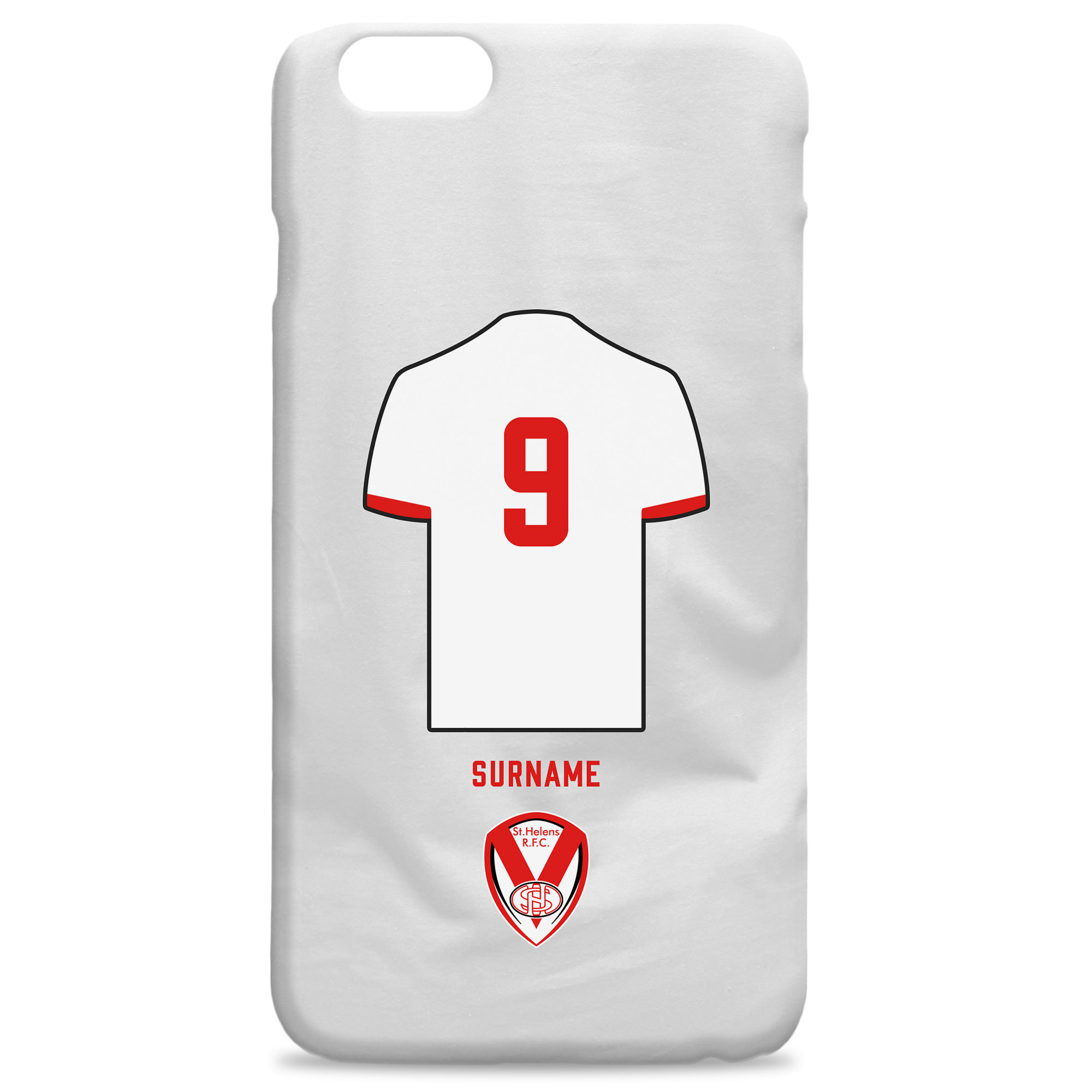 St Helens Shirt Hard Back Phone Case