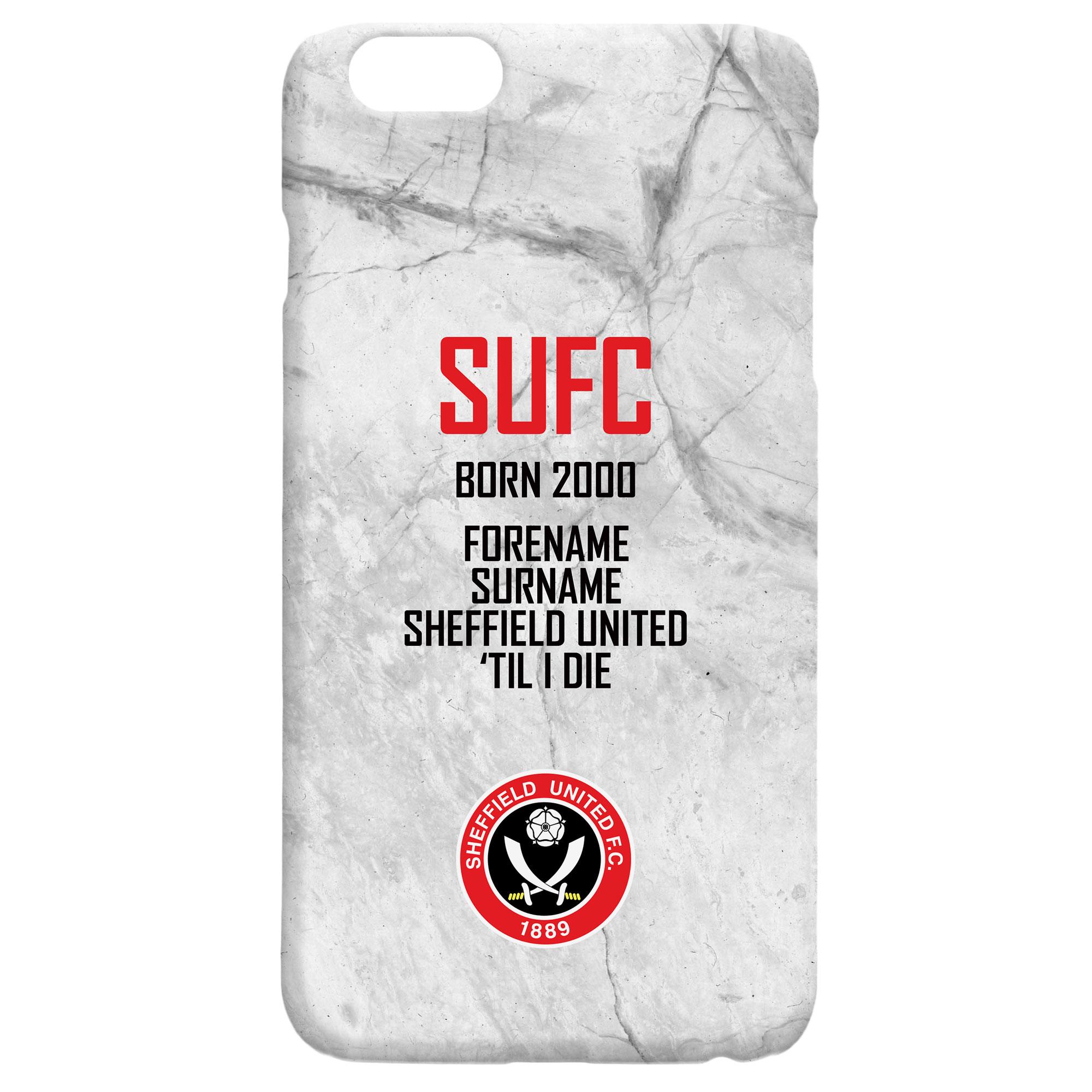 Sheffield United FC 'Til I Die Hard Back Phone Case