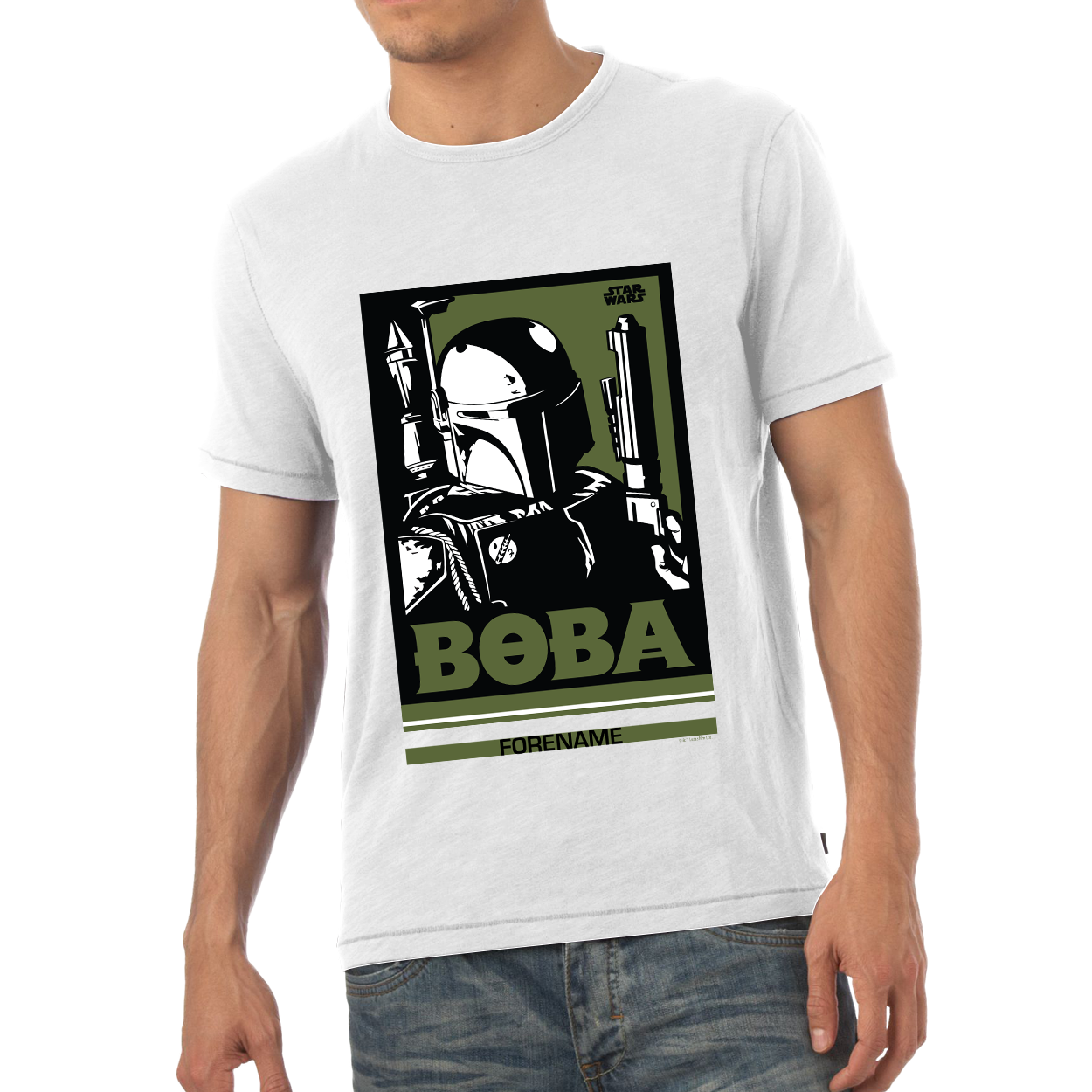 Star Wars Boba Pop Art Mens T-shirt
