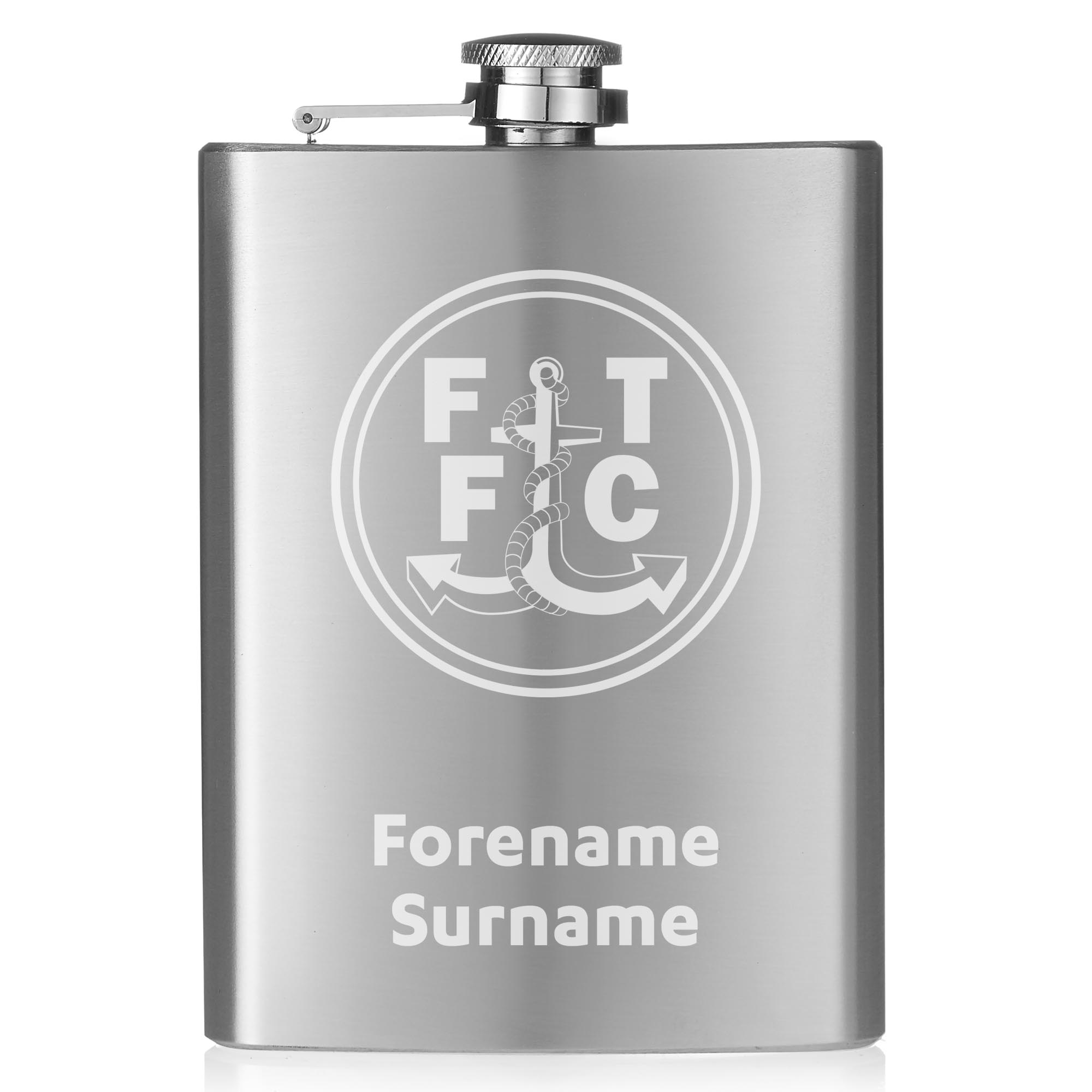 Fleetwood Town FC Crest Hip Flask