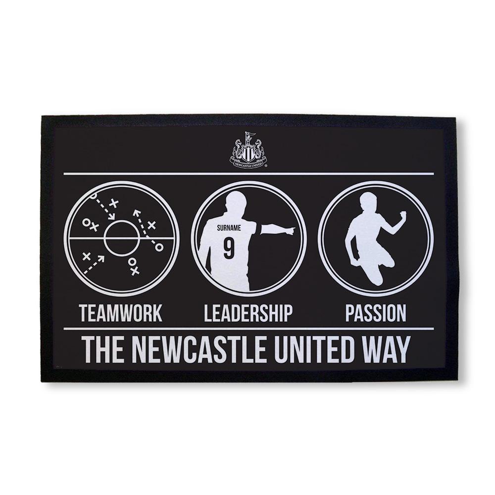Newcastle United FC Way Door Mat