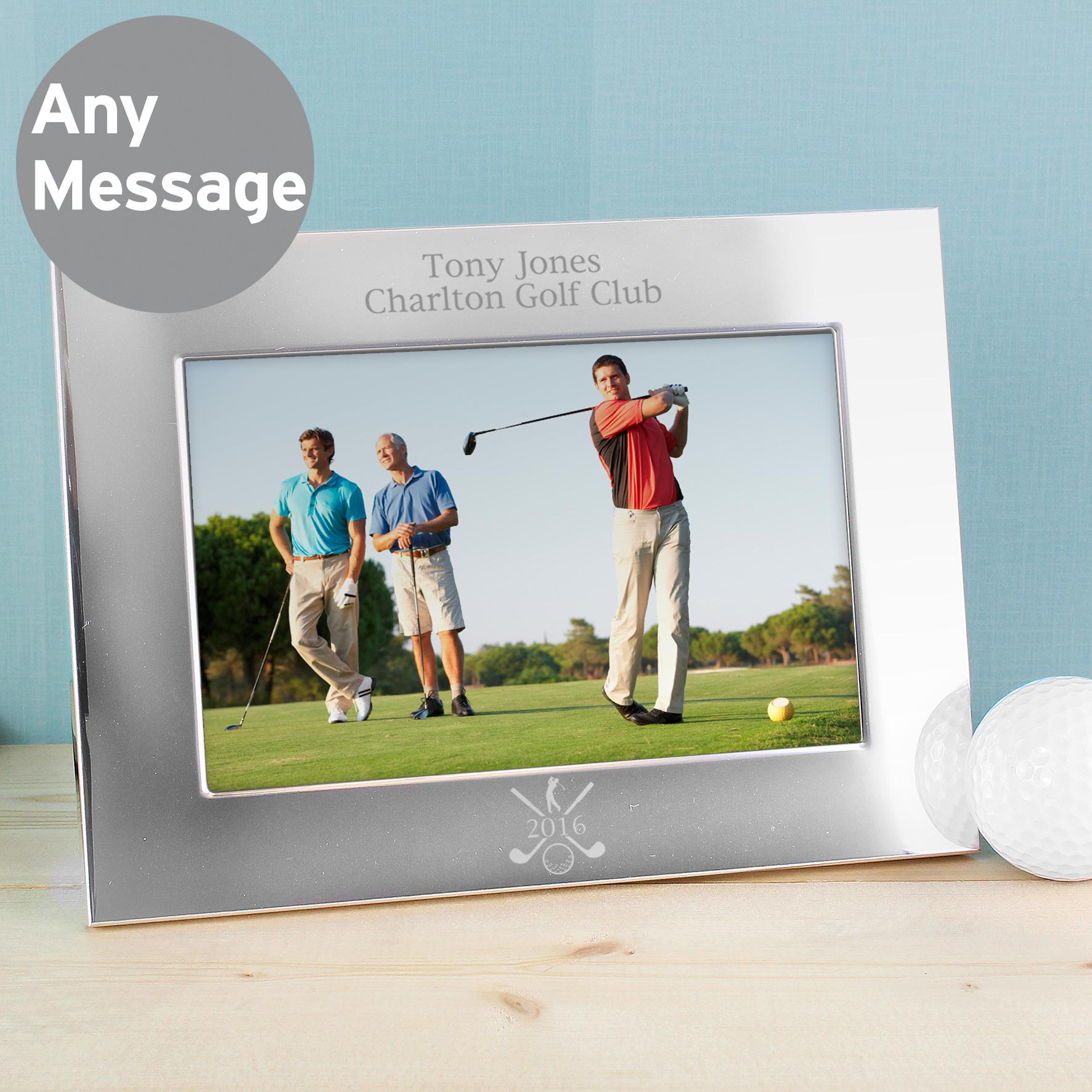 Engraved Silver 6x4 Golf Photo Frame