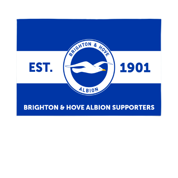 Brighton & Hove Albion FC Supporters 6ft x 4ft Banner