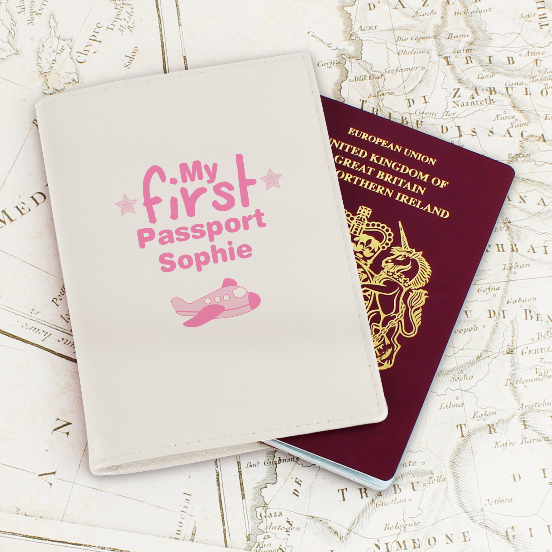 Personalised My First Pink Passport Holder