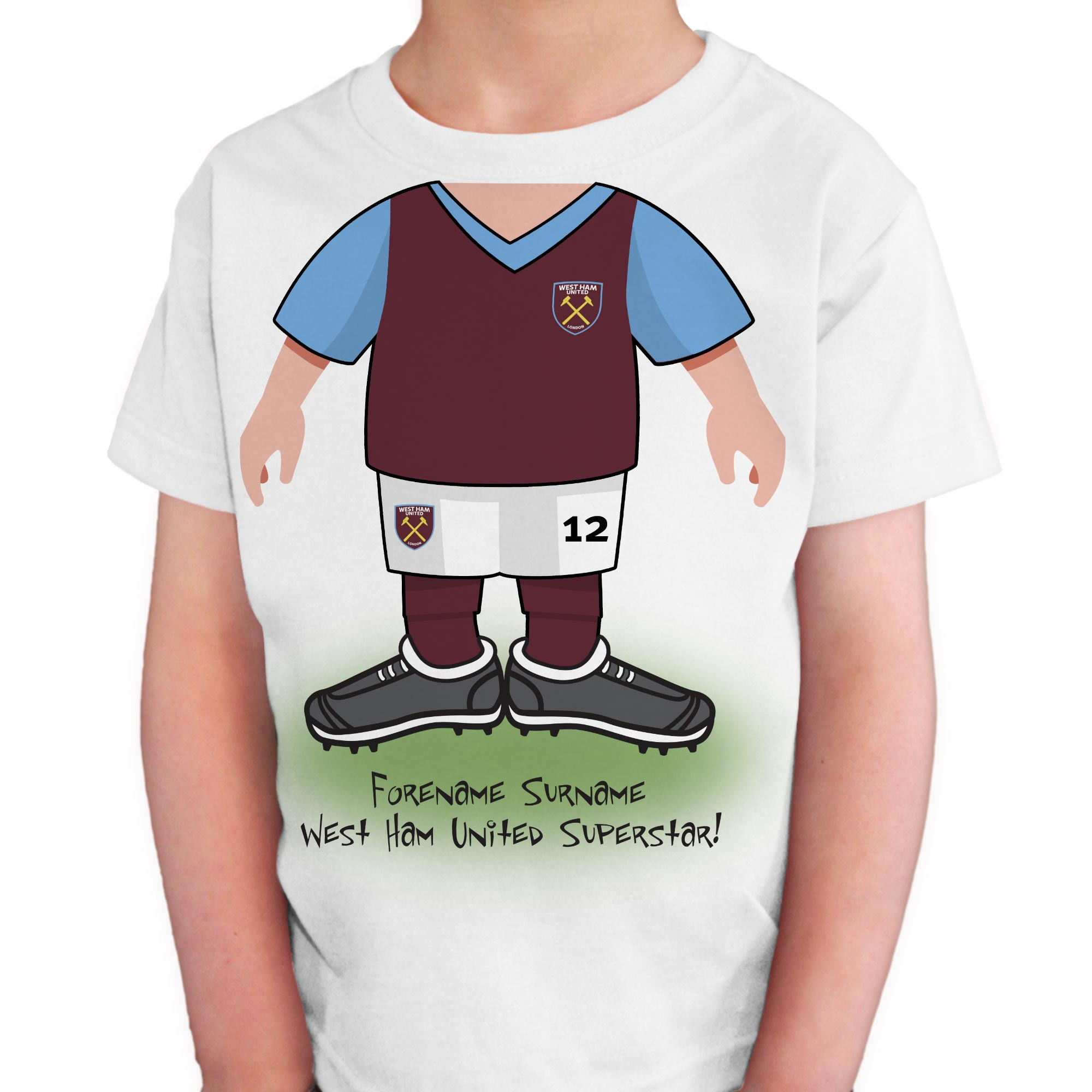 West Ham United FC Kids Use Your Head T-Shirt