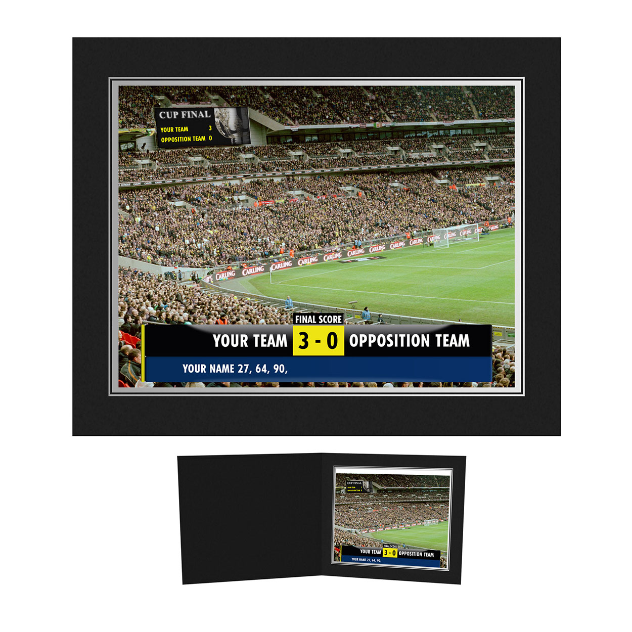 Personalised Football Scoreboard Photo - Presentation Folder