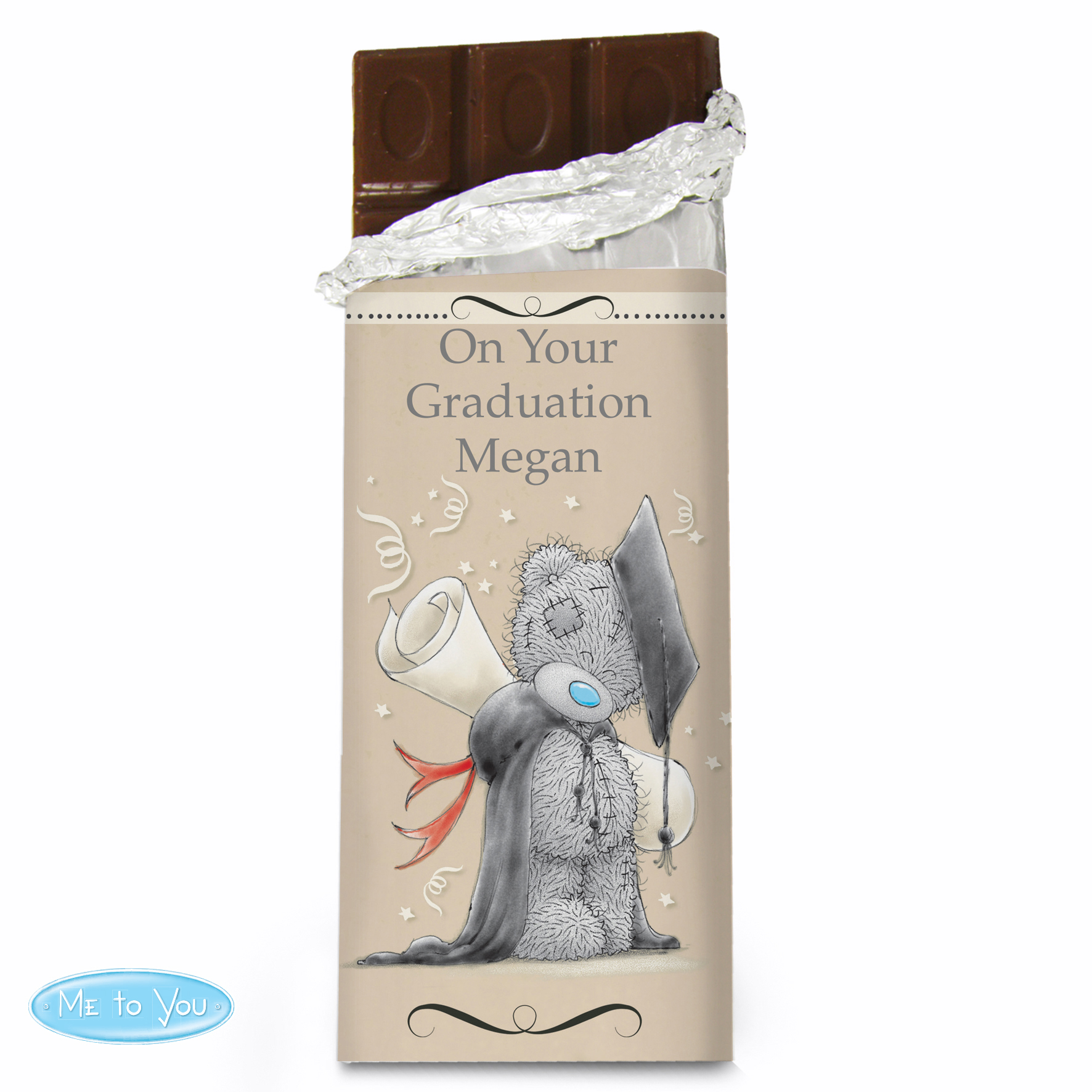 Personalised Me to You Graduation Milk Chocolate Bar