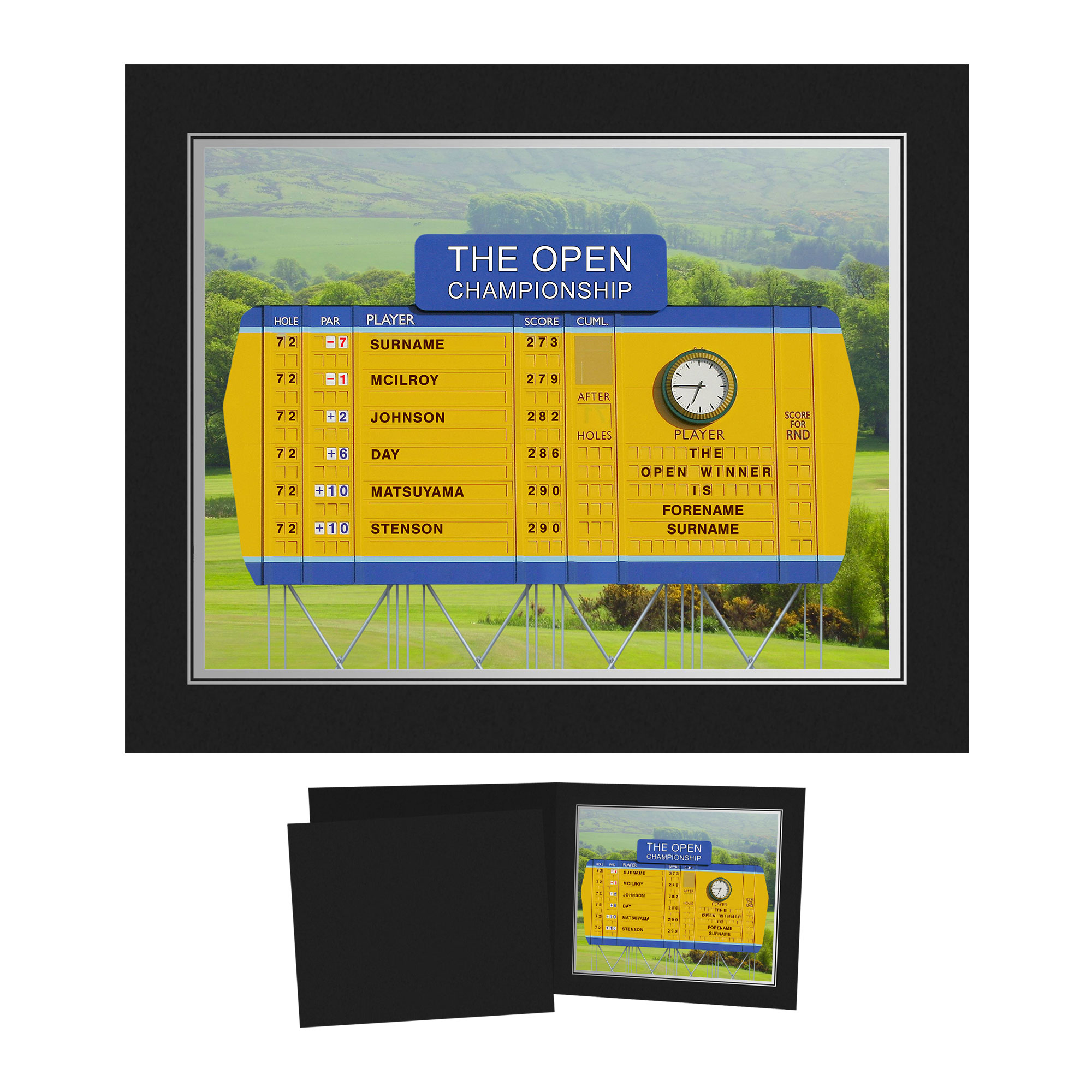 Personalised Open Championship Photo Folder