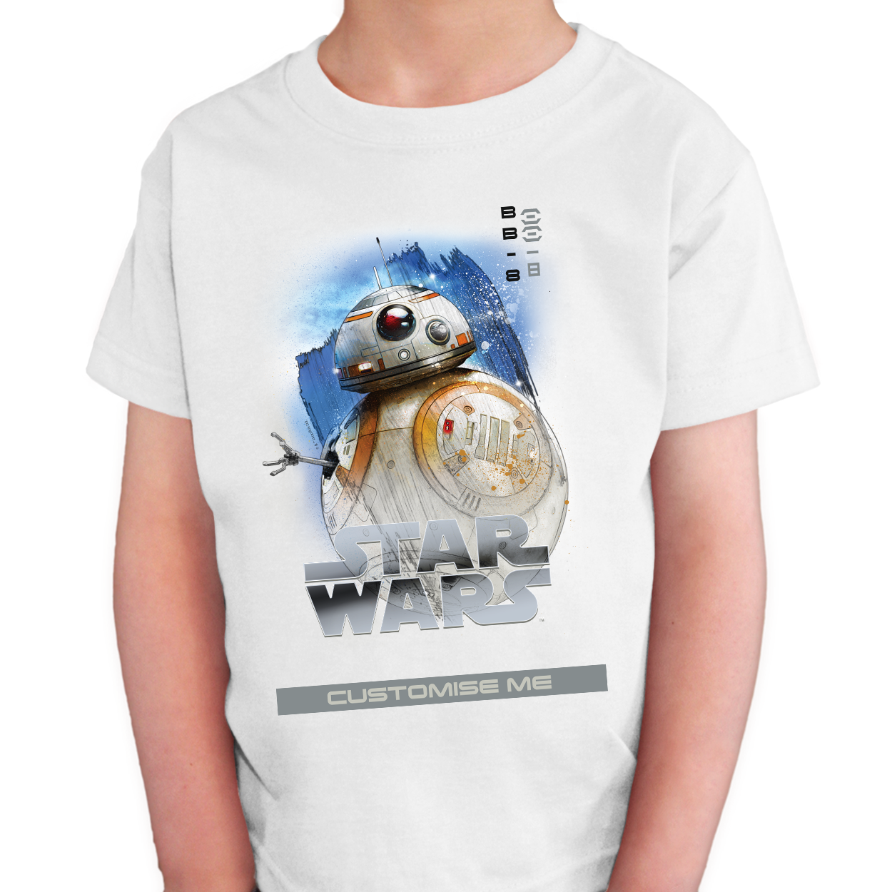Star Wars BB-8 Last Jedi Spray Paint Kids T-shirt