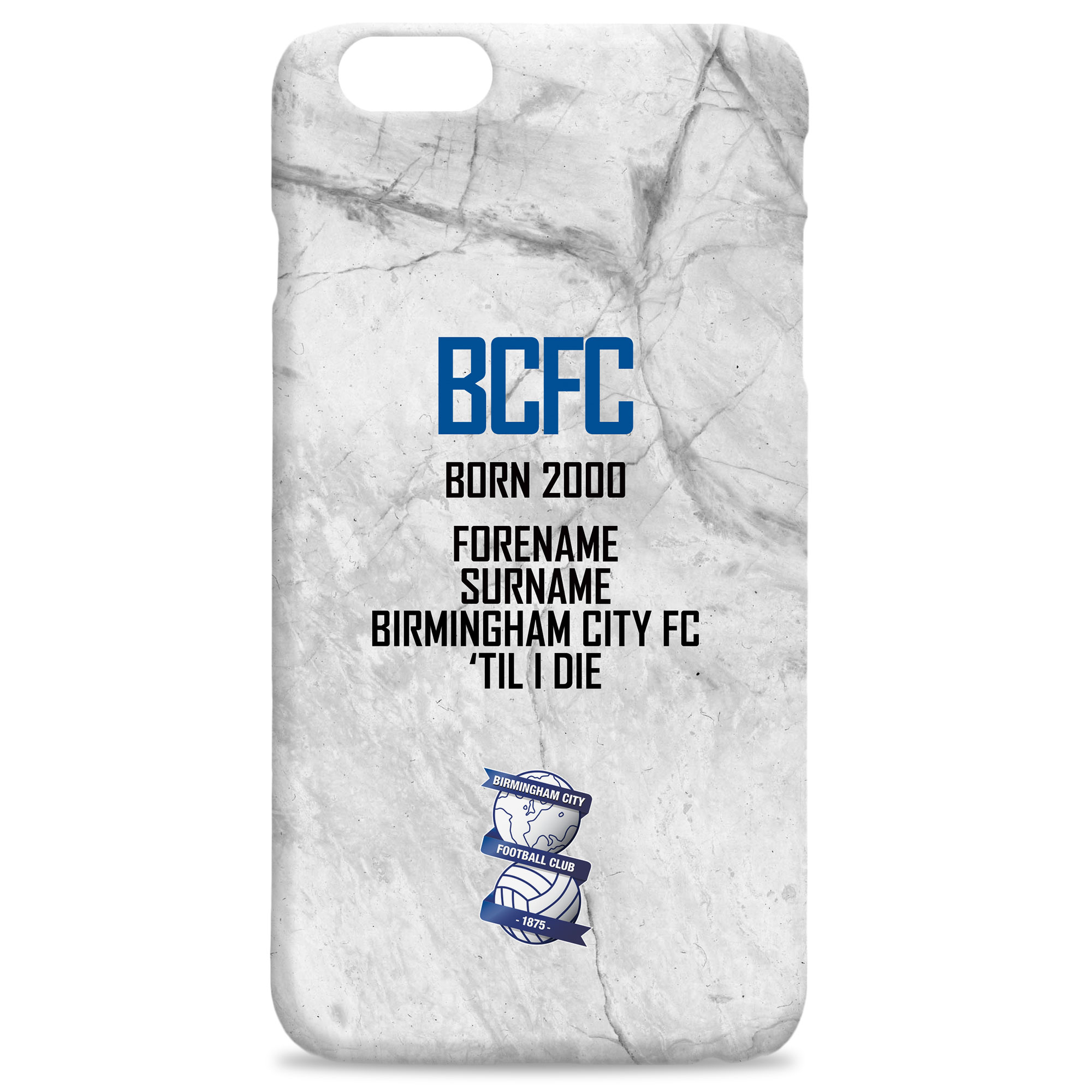 Birmingham City FC 'Til I Die Hard Back Phone Case