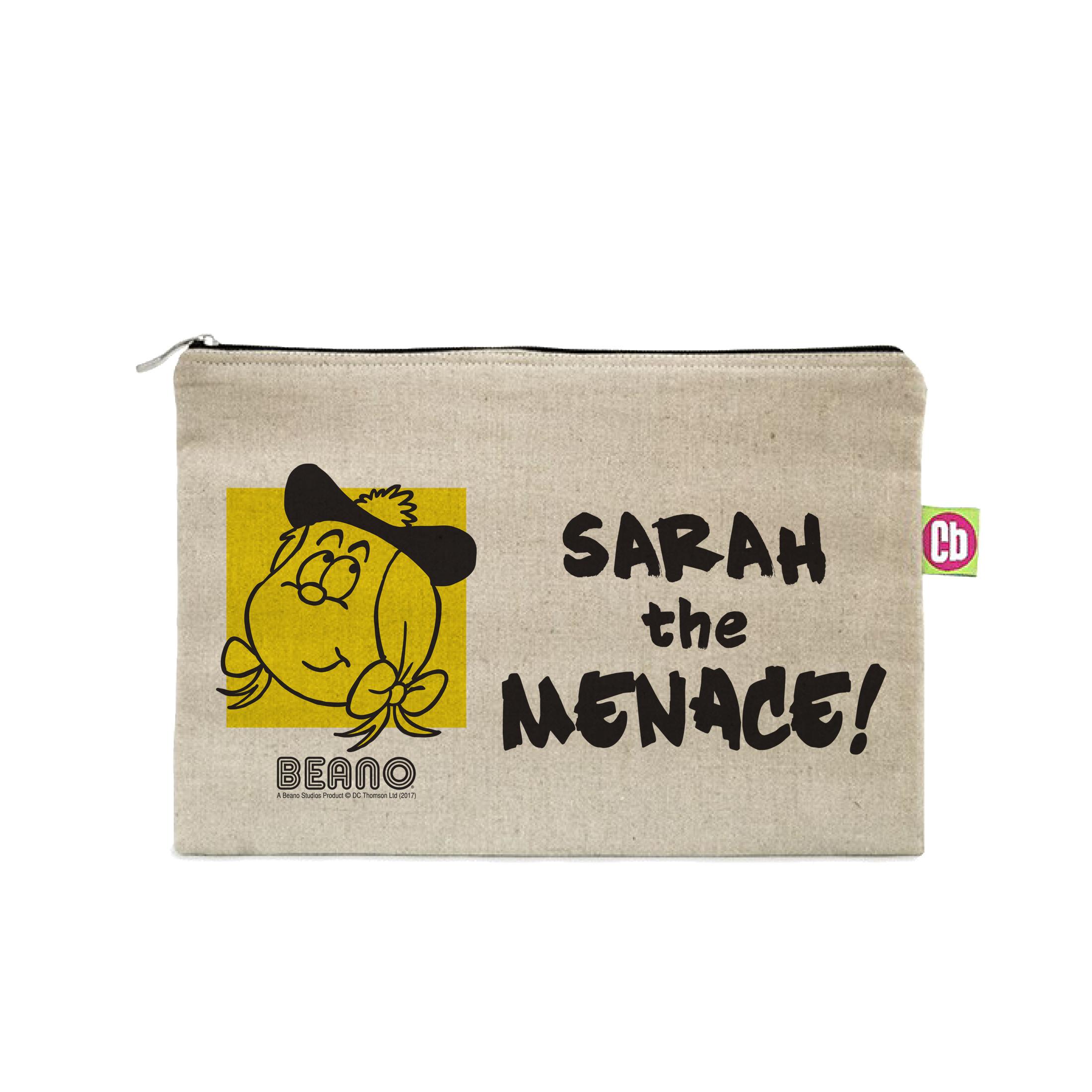 Beano Big Heads Minnie Canvas Pencil Case