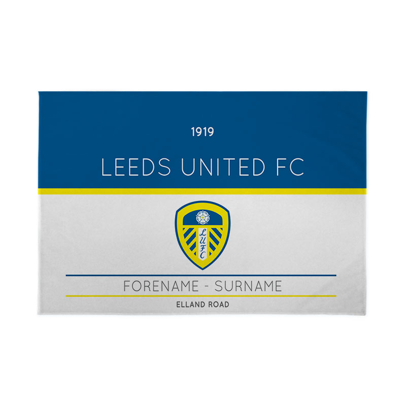Leeds United FC Minimal Ticket 6ft x 4ft Banner