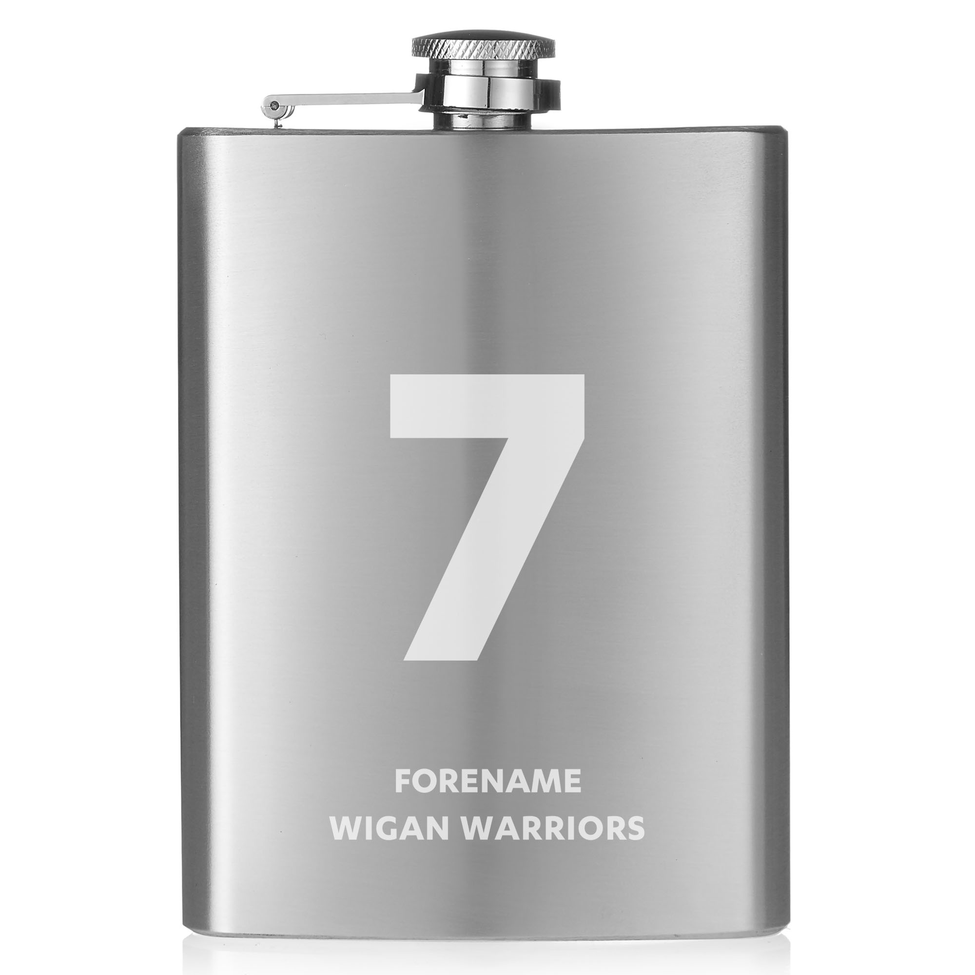 Wigan Warriors Shirt Hip Flask