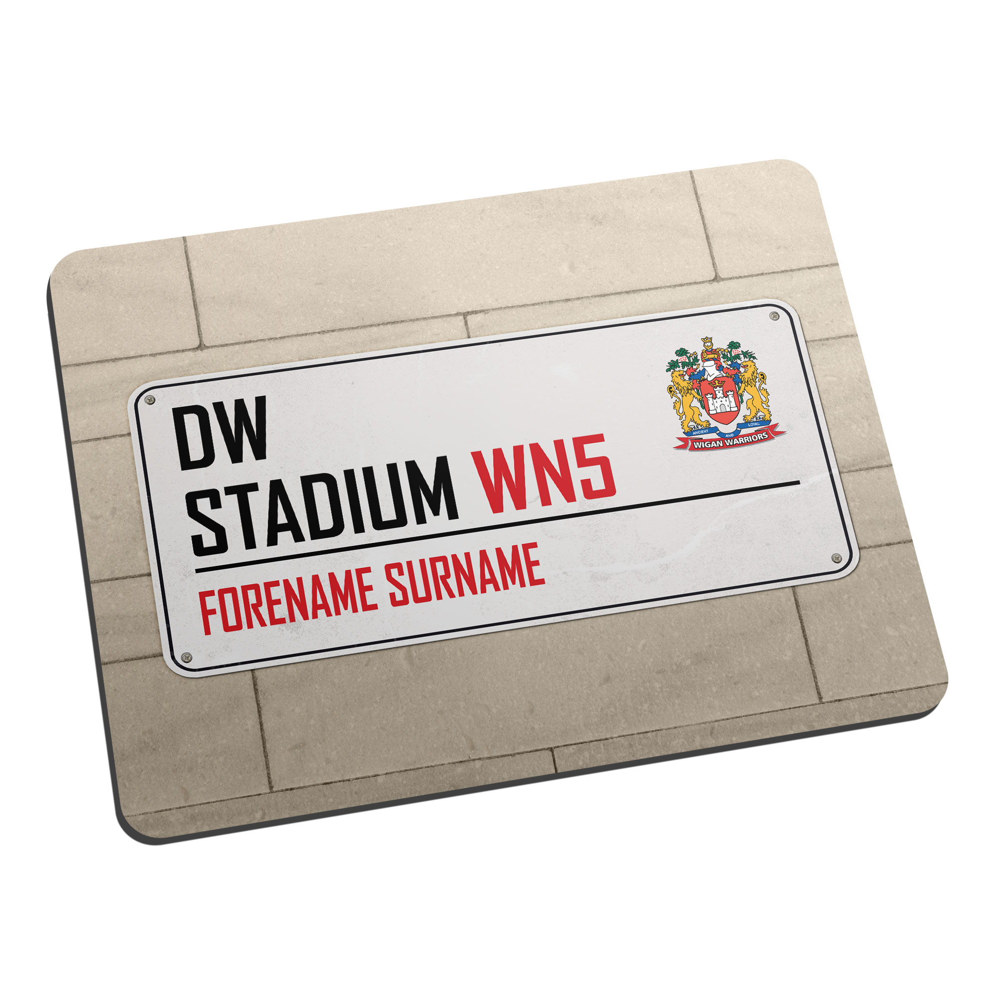 Wigan Warriors Street Sign Mouse Mat