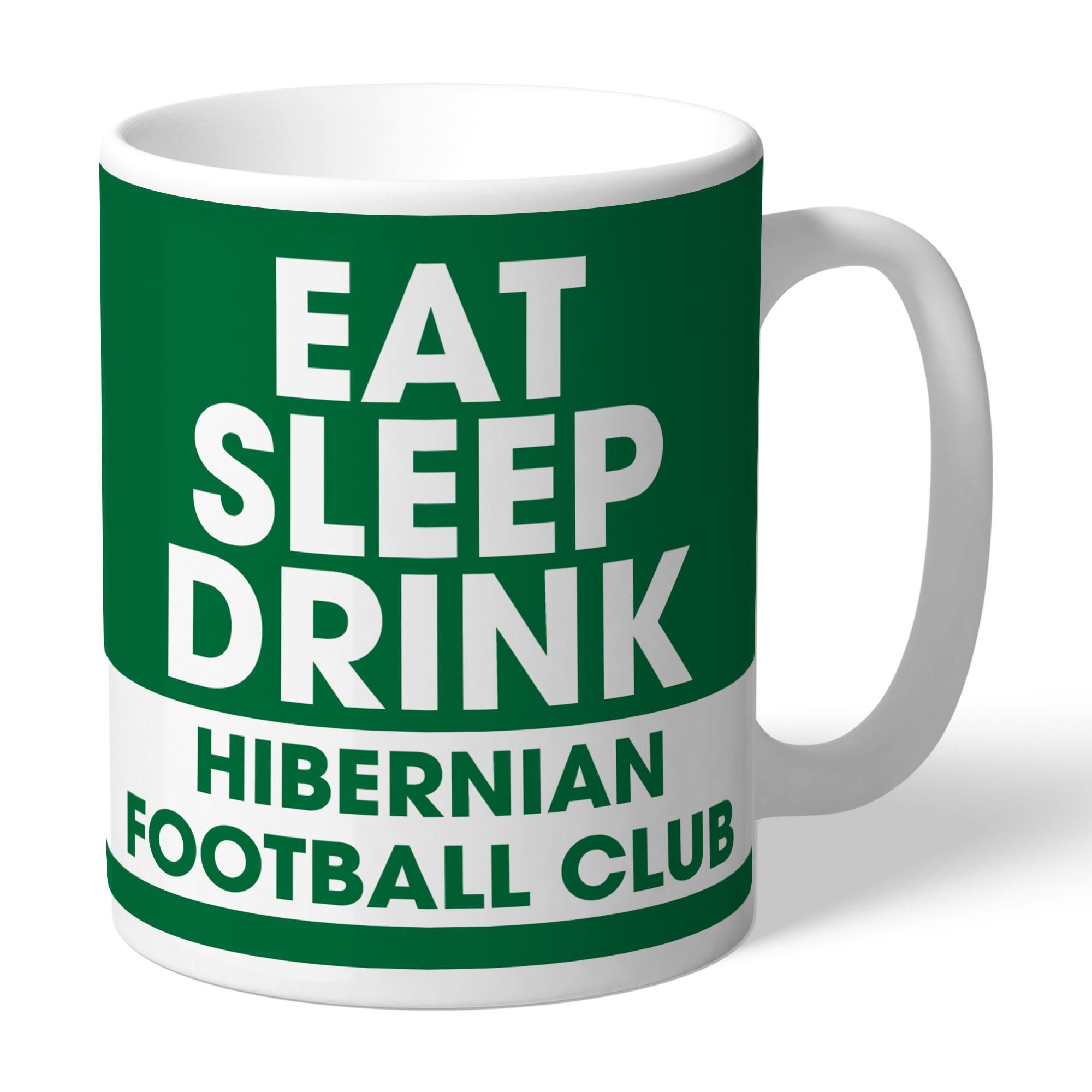 Hibernian FC Eat Sleep Drink Mug