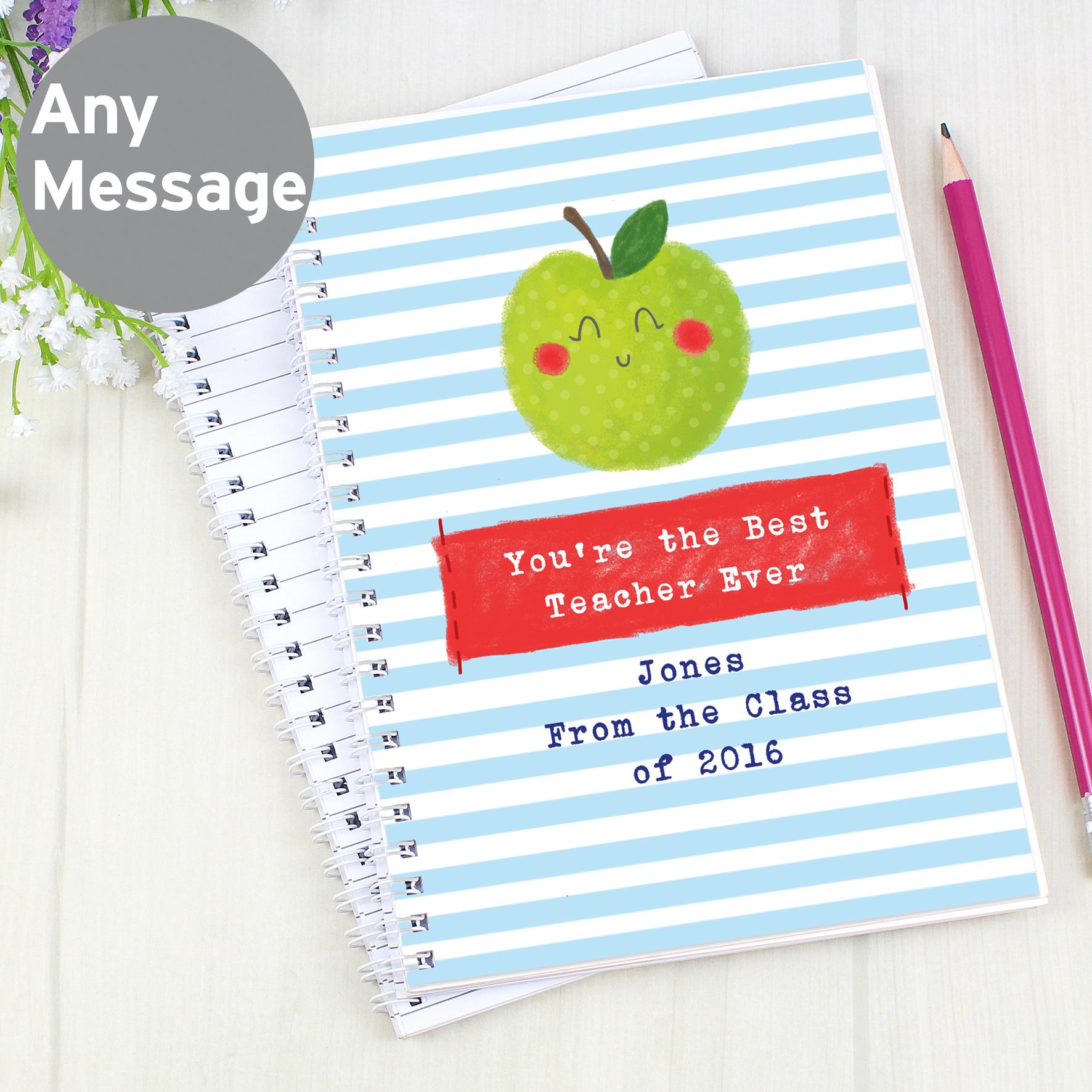 Personalised Happy Apple Notebook