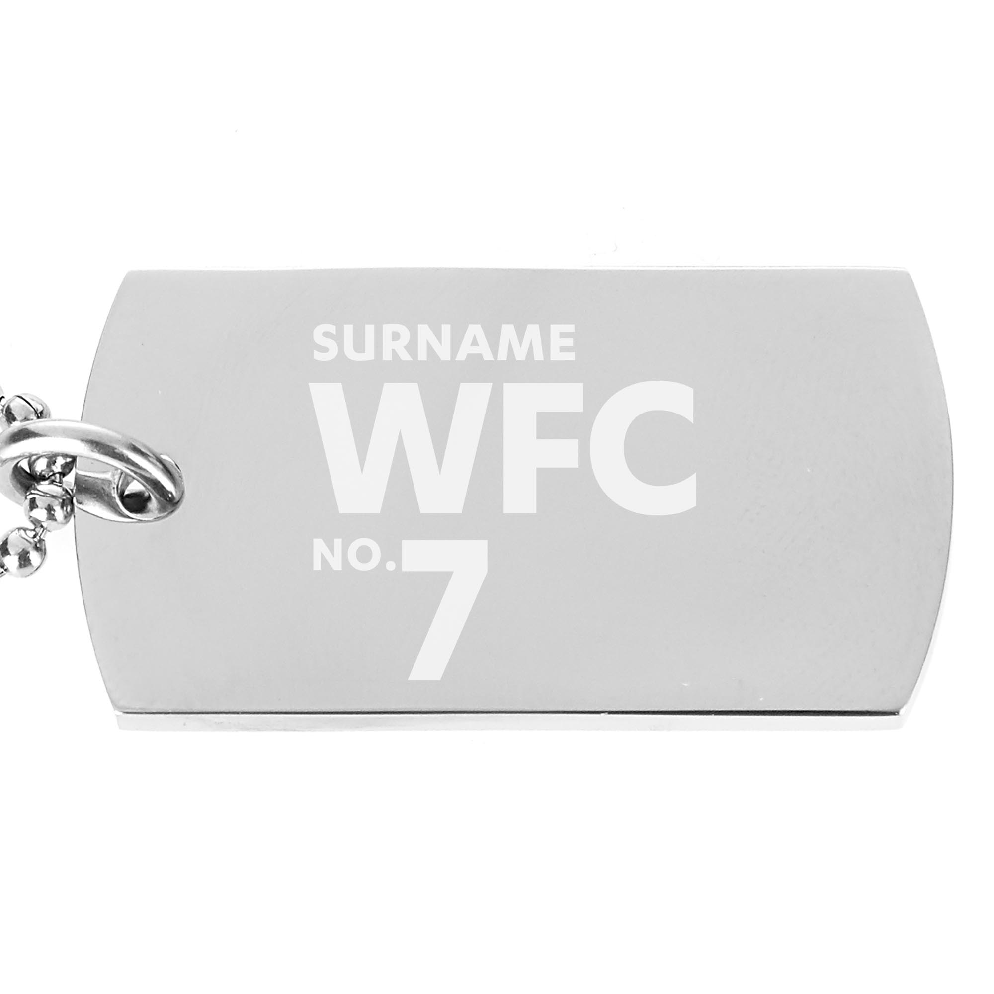 Watford FC Number Dog Tag Pendant