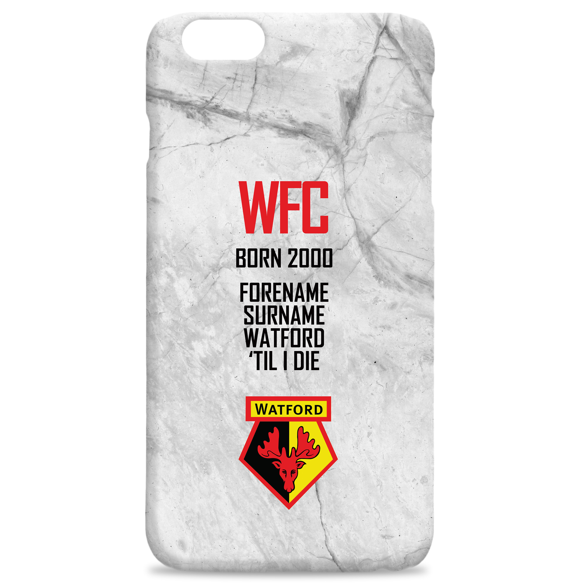 Watford FC 'Til I Die Hard Back Phone Case