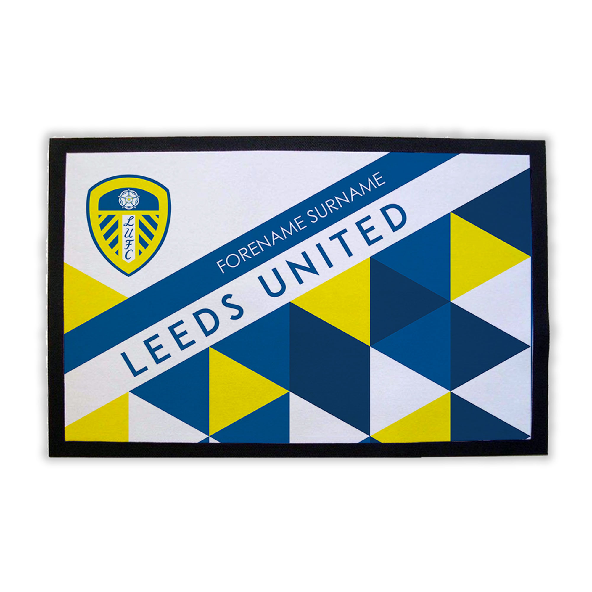 Leeds United FC Patterned Door Mat