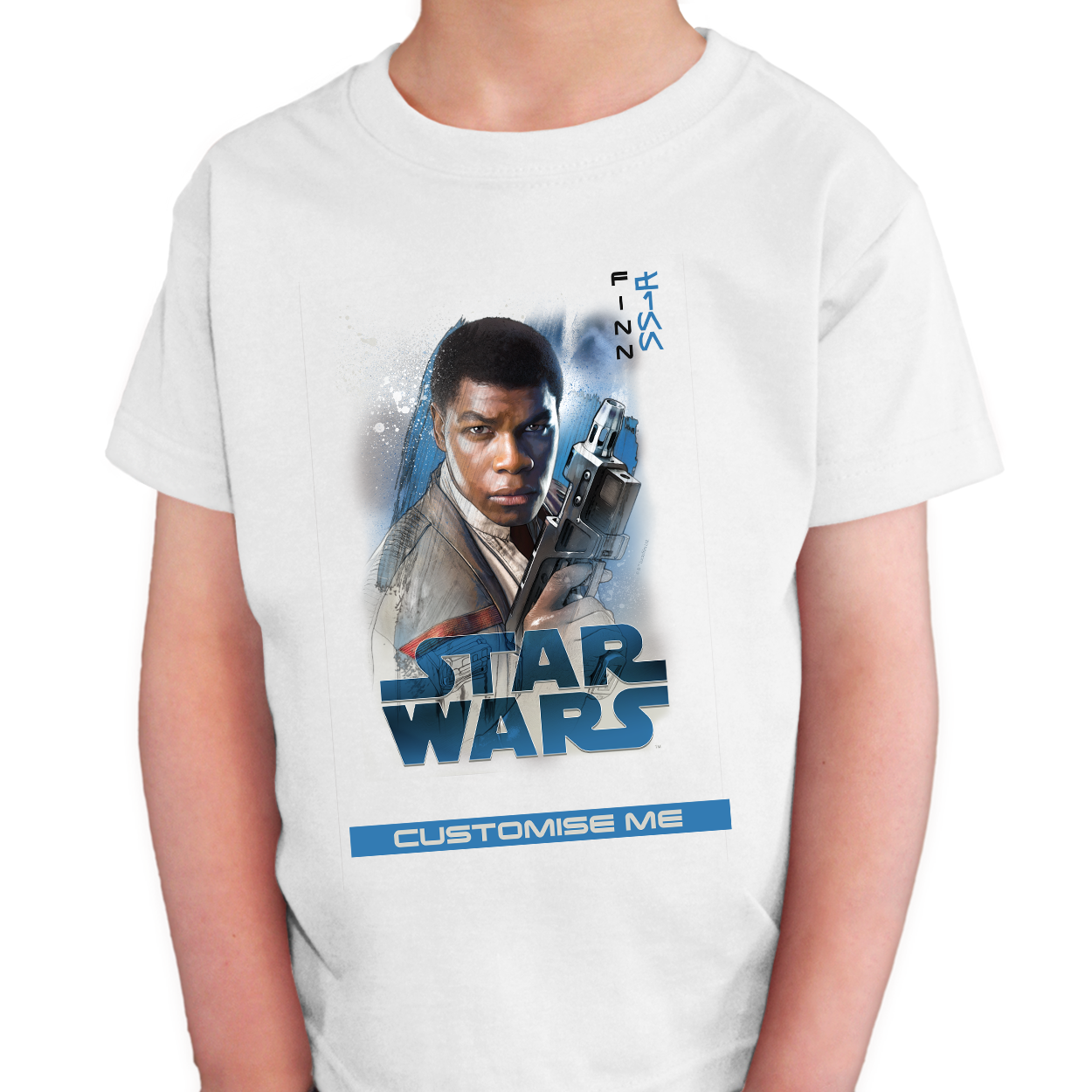 Star Wars Finn Last Jedi Spray Paint Kids T-shirt