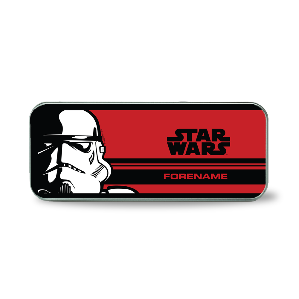 Star Wars Storm Trooper Pop Art Silver Pencil Tin