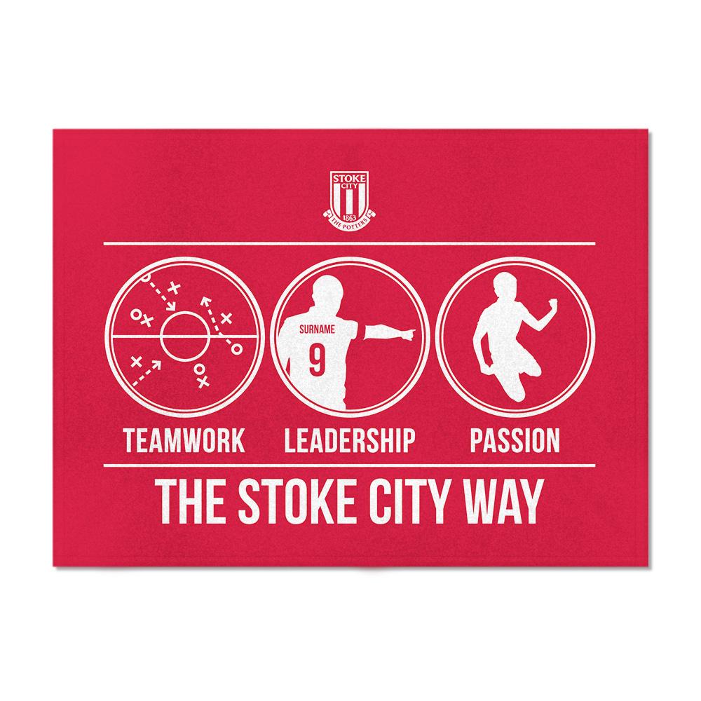 Stoke City FC Way Blanket (100cm X 75cm)