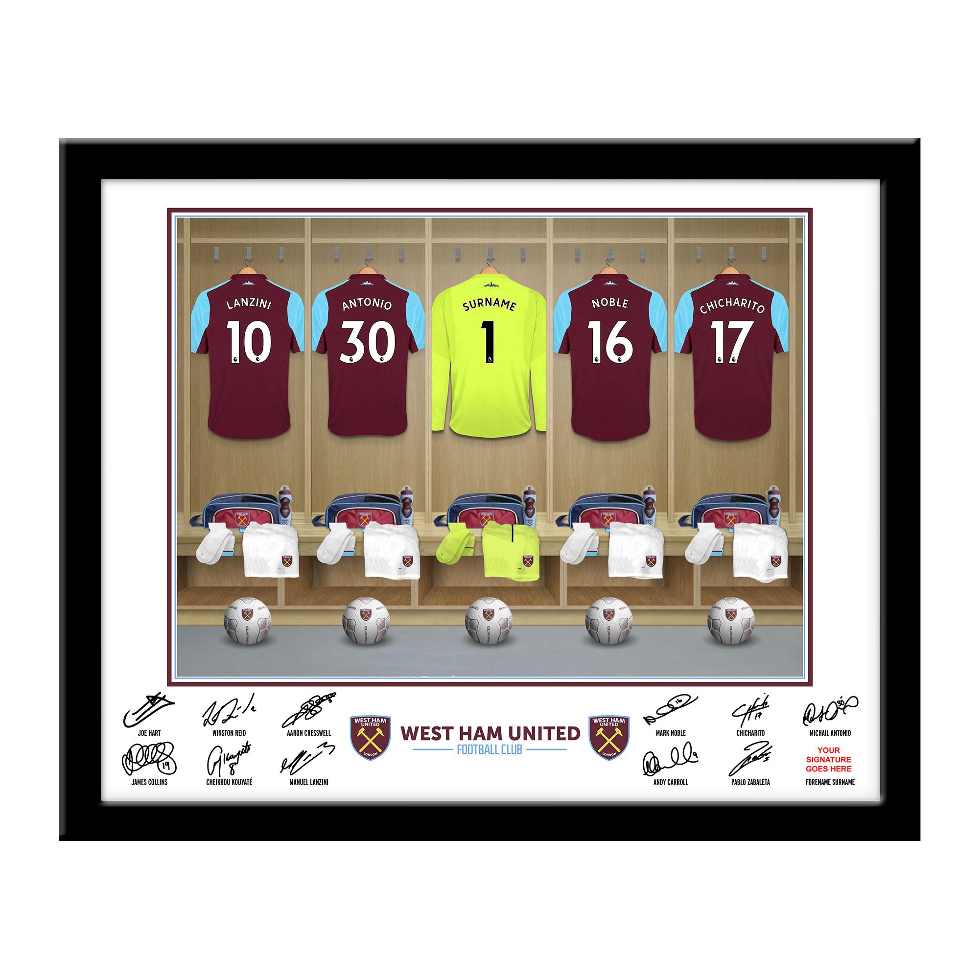 West Ham United FC Goalkeeper Dressing Room Framed Print