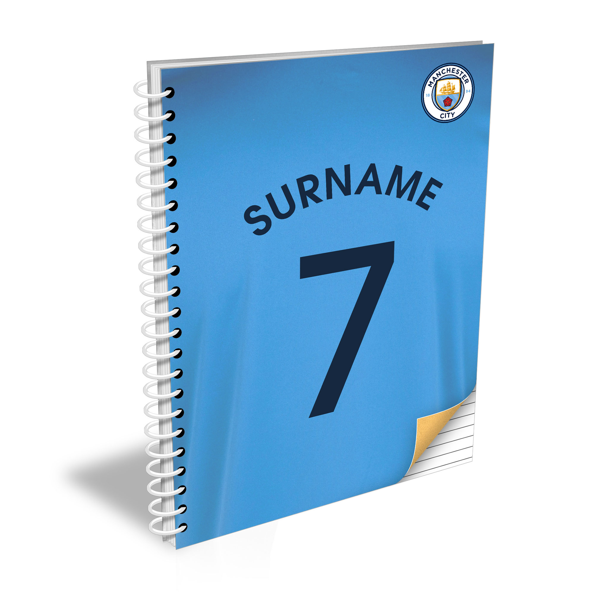 Manchester City FC Shirt Notebook