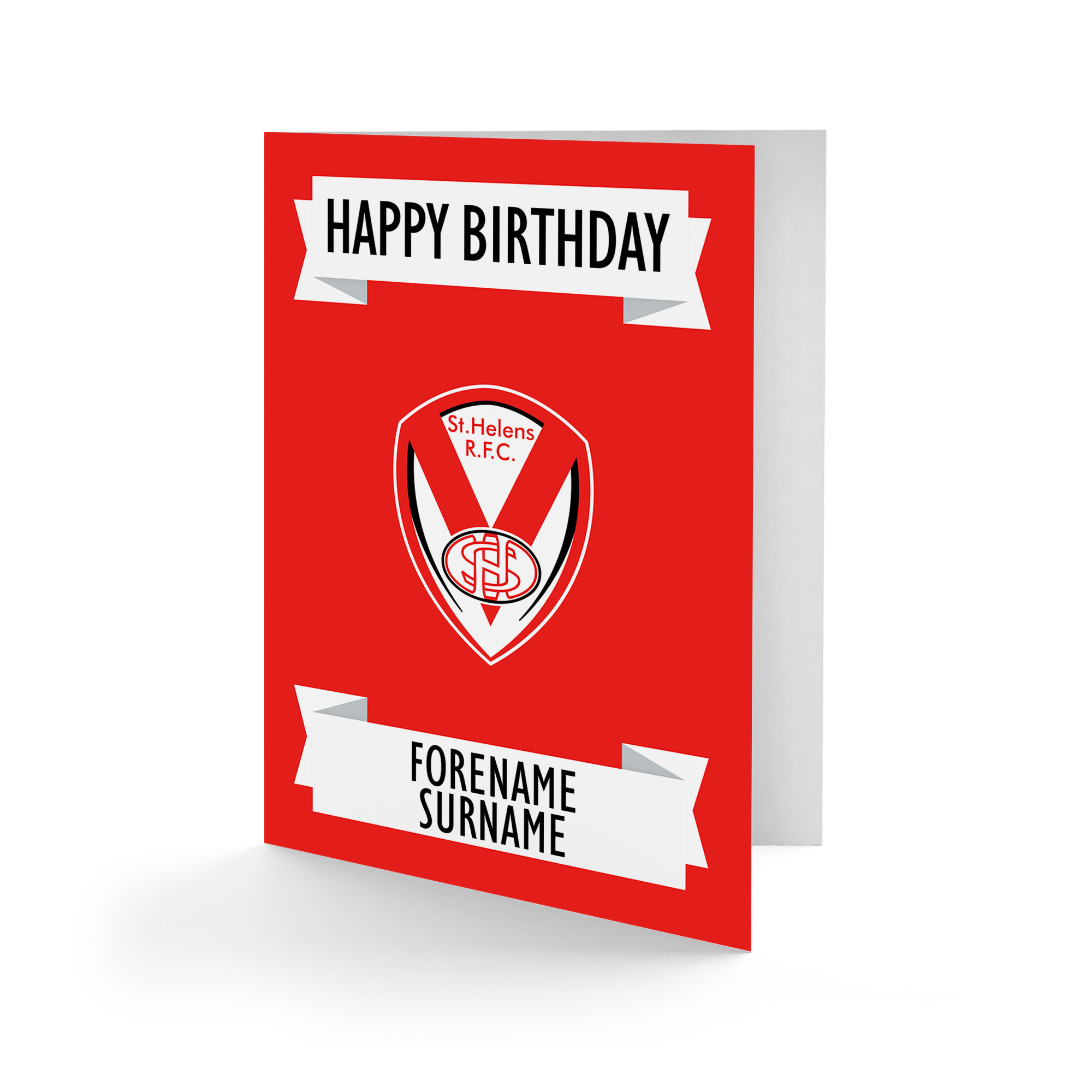 St Helens Crest Birthday Card
