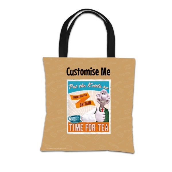 "Aardman Wallace And Gromit ""Put The Kettle On"" Tote Bag"