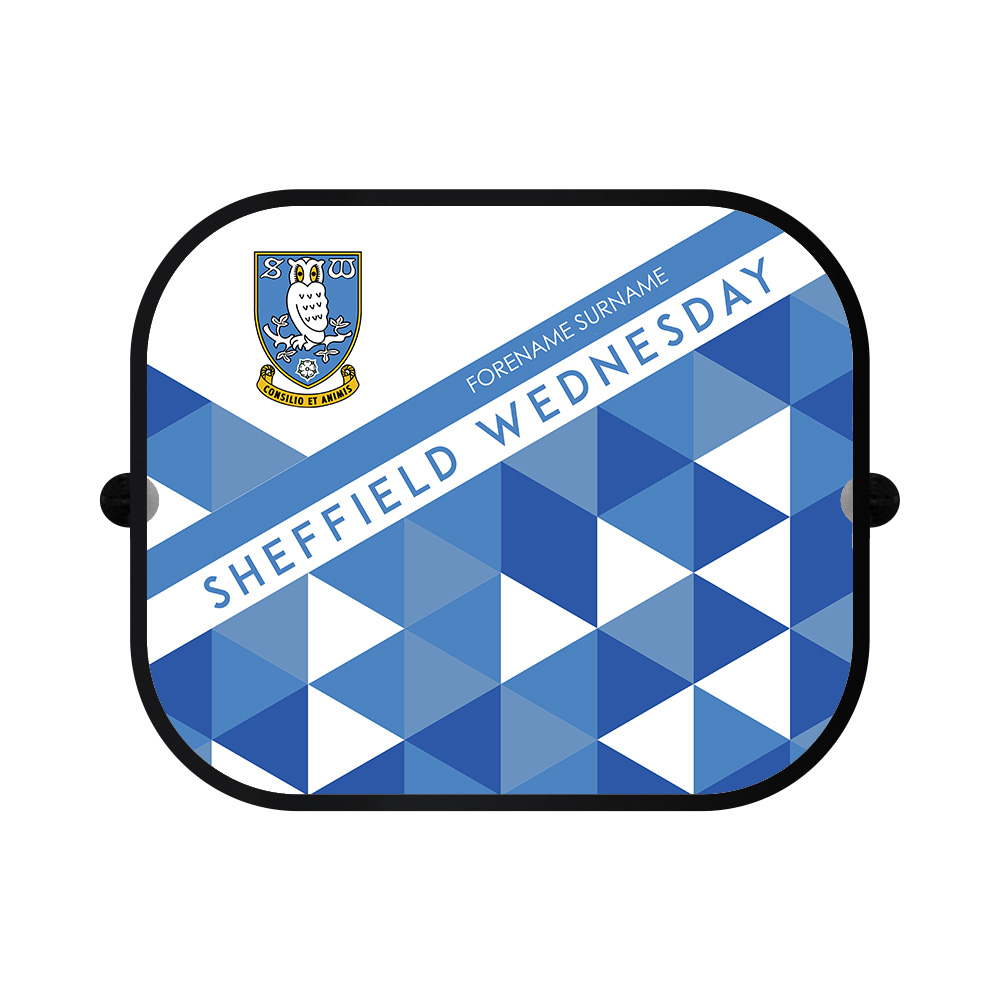 Sheffield Wednesday FC Patterned Car Sunshade