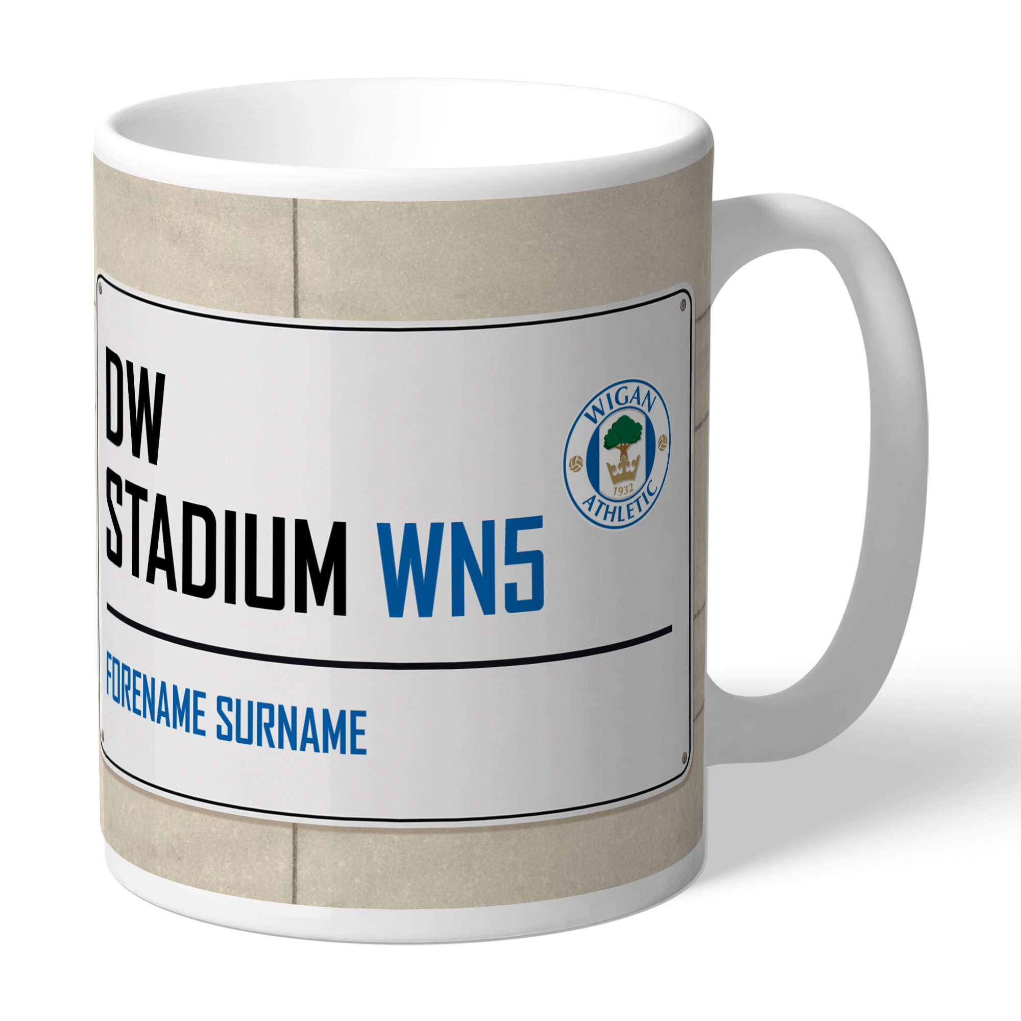Wigan Athletic FC Street Sign Mug