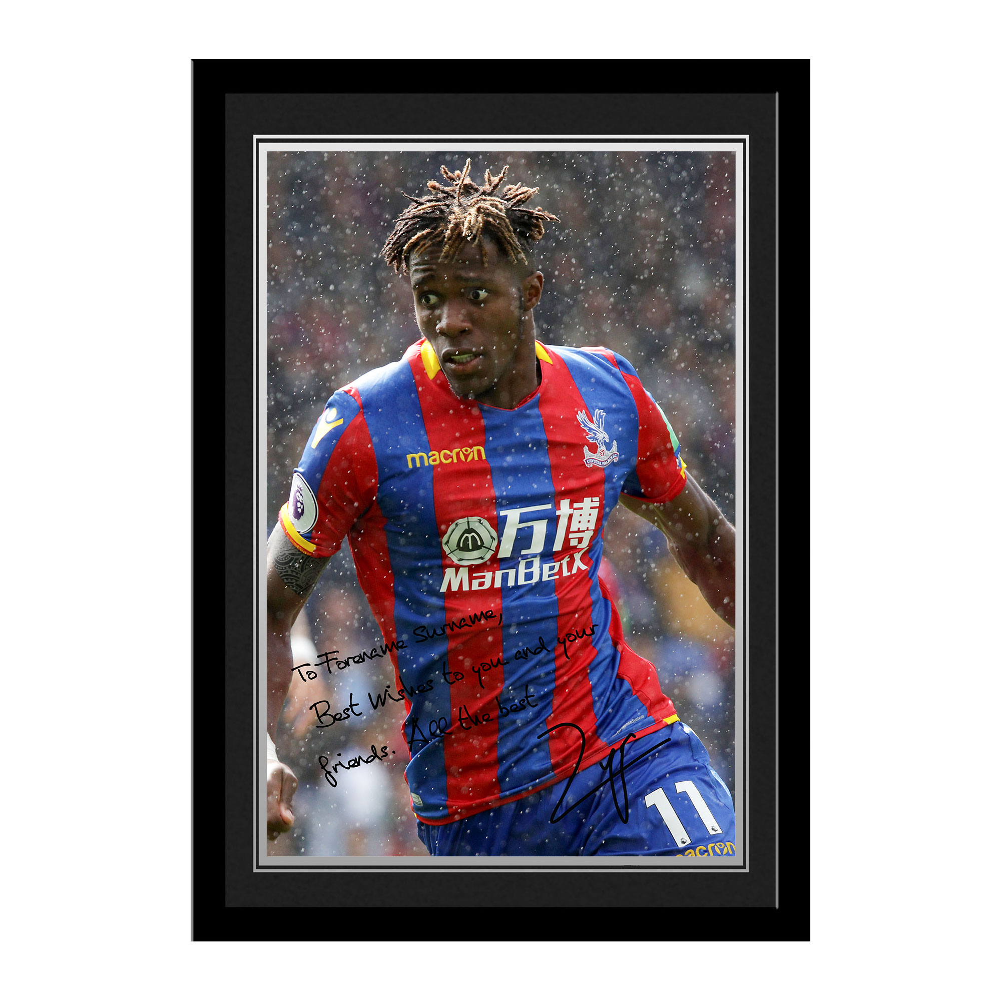 Crystal Palace FC Zaha Autograph Photo Framed