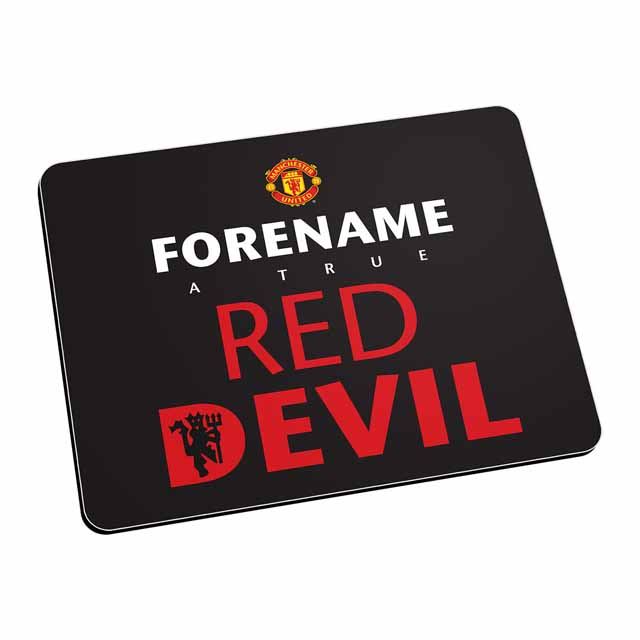 Manchester United FC Red Devil Mouse Mat (Black)