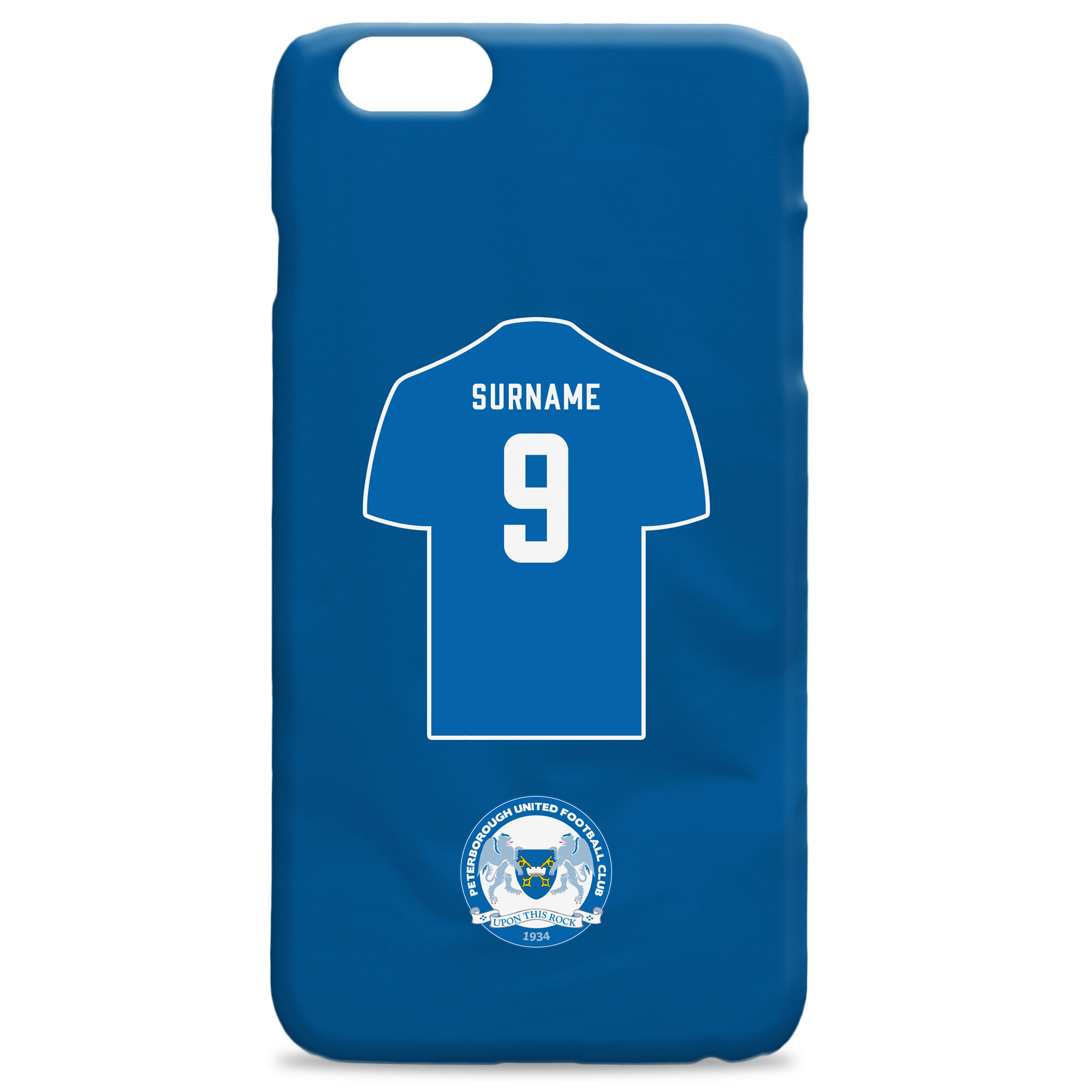 Peterborough United FC Shirt Hard Back Phone Case