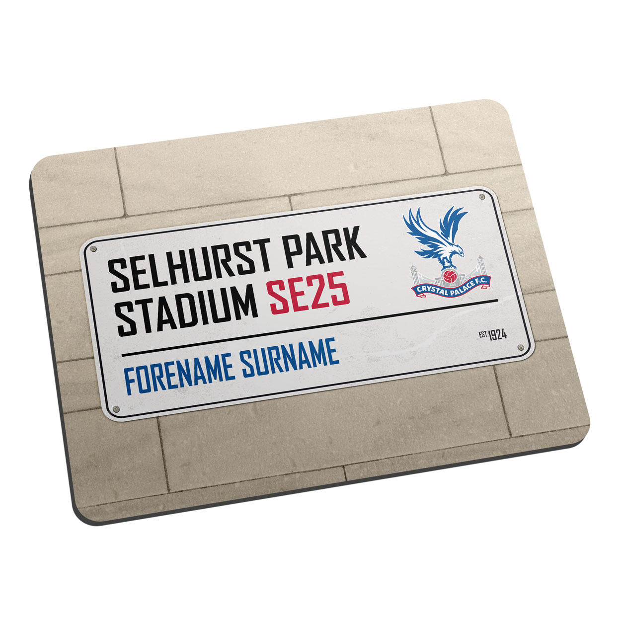 Crystal Palace FC Street Sign Mouse Mat