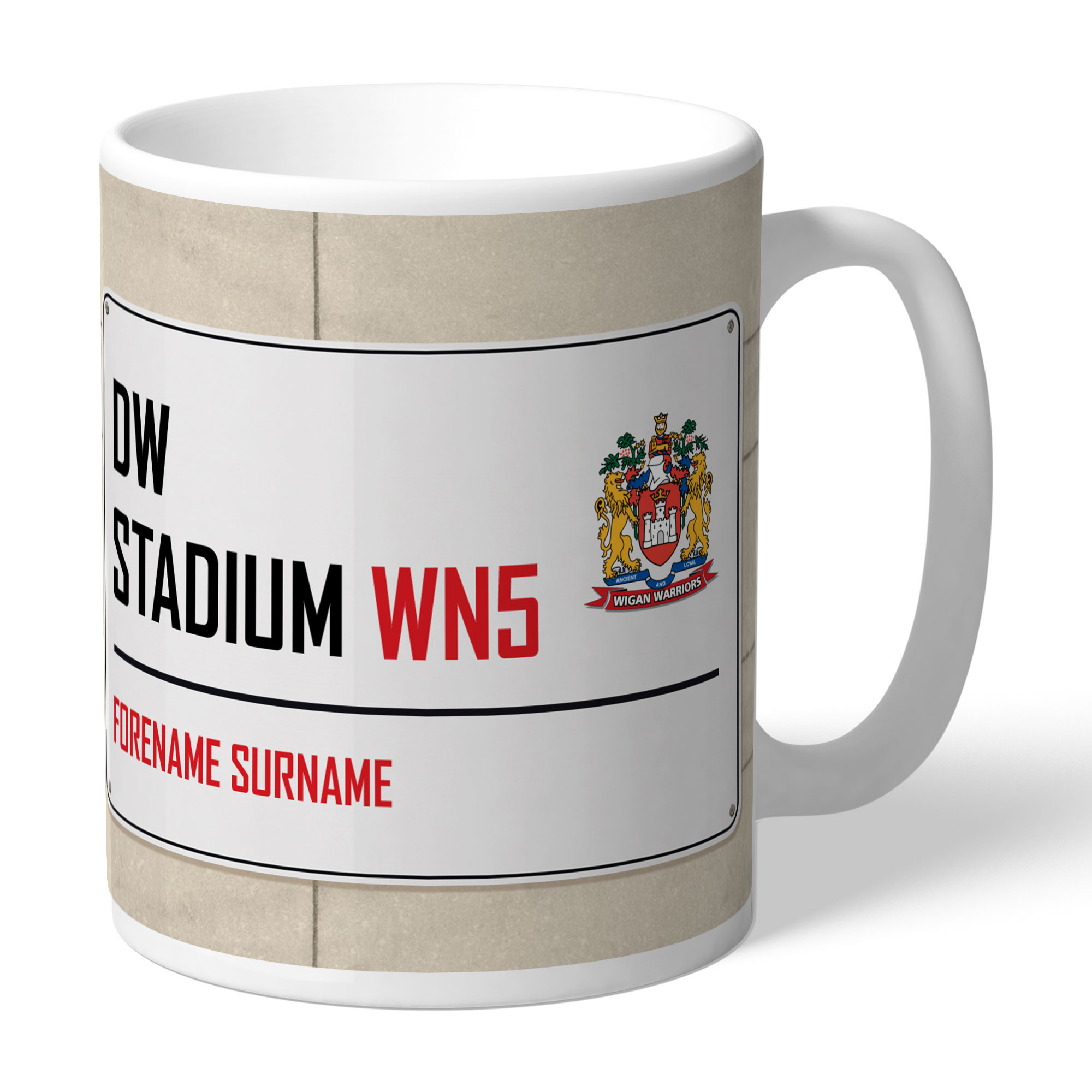 Wigan Warriors Street Sign Mug
