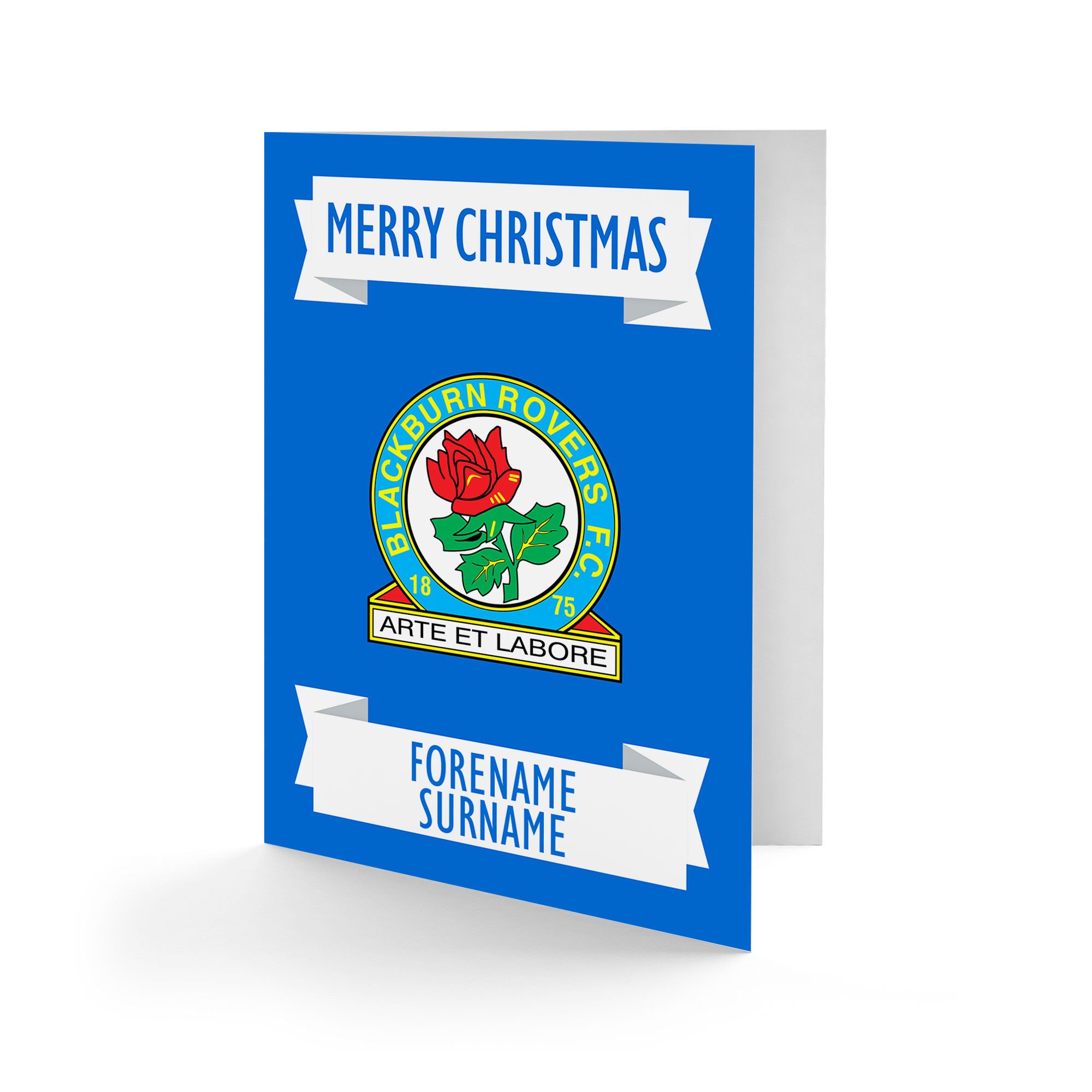 Blackburn Rovers FC Crest Christmas Card