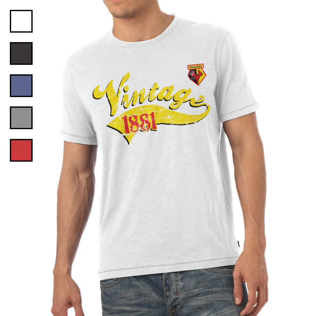 Watford FC Mens Vintage T-Shirt