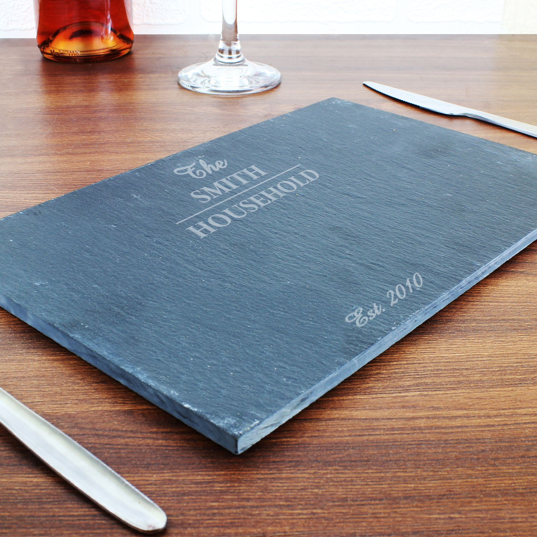 Engraved Family Slate Placemat