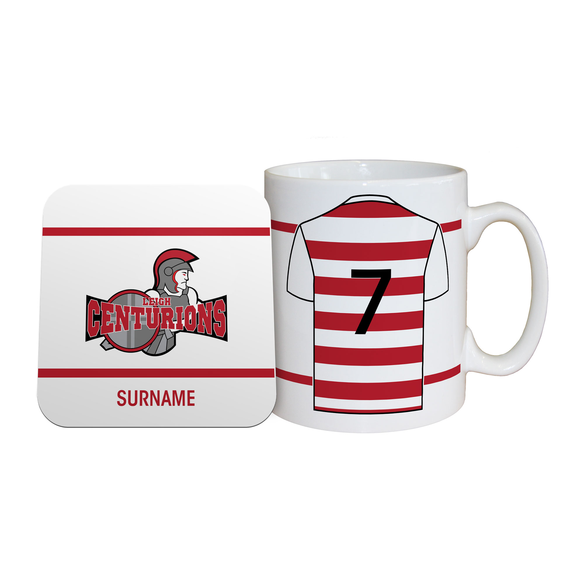 Leigh Centurions Shirt Mug & Coaster Set