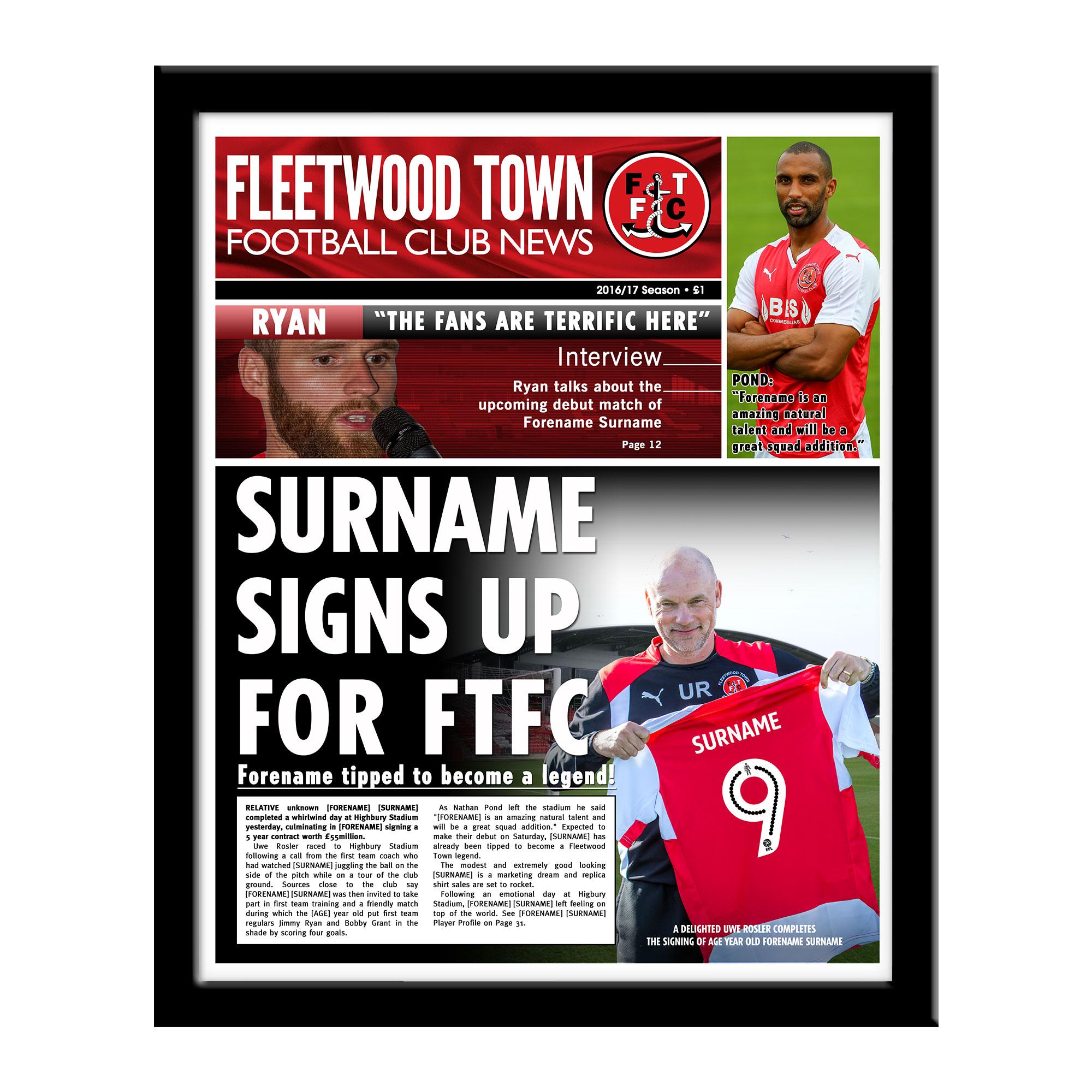 Fleetwood Town FC News