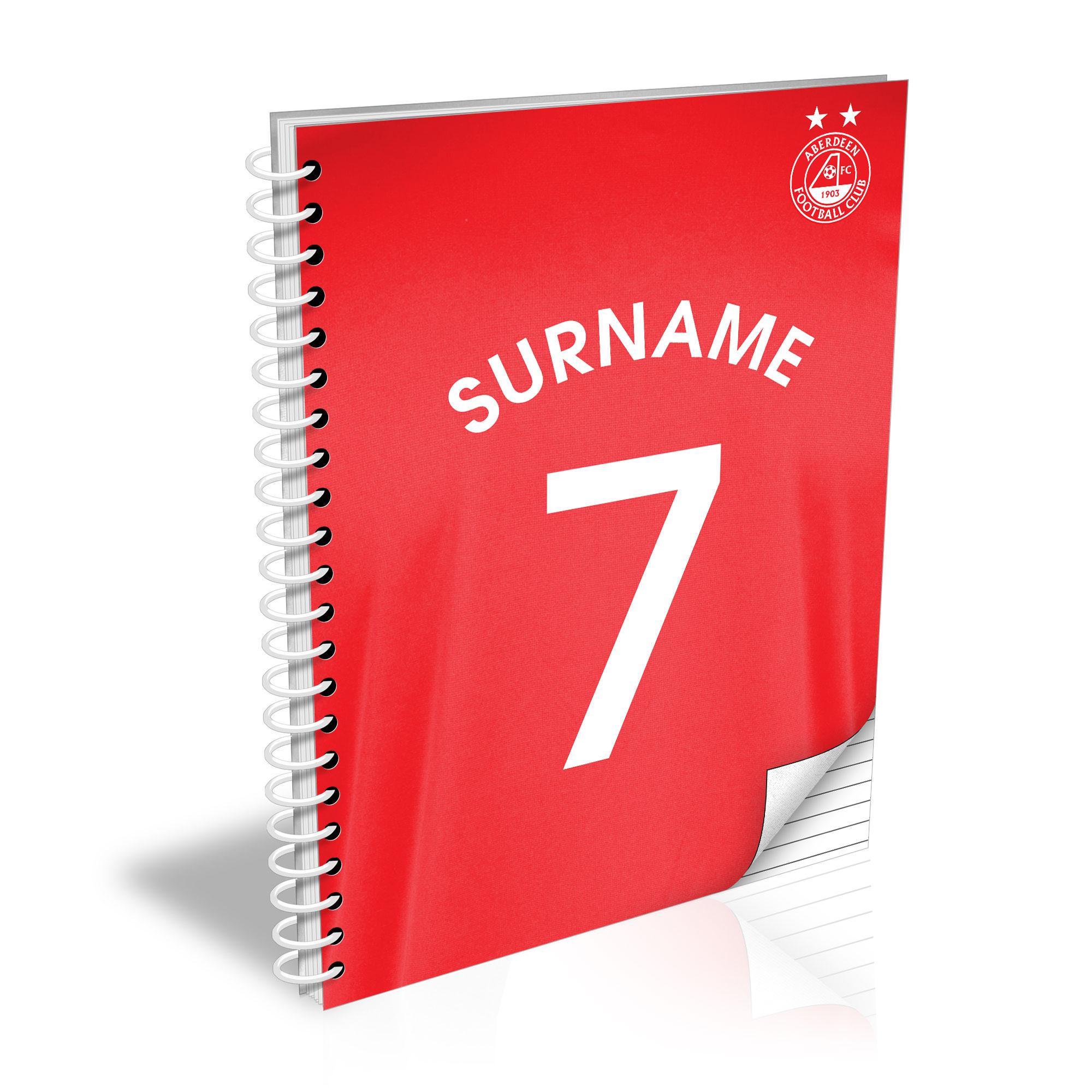 Aberdeen FC Shirt Notebook