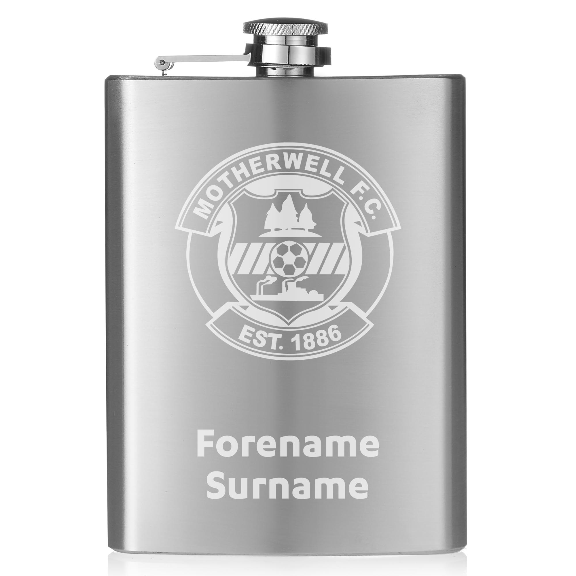 Motherwell FC Crest Hip Flask