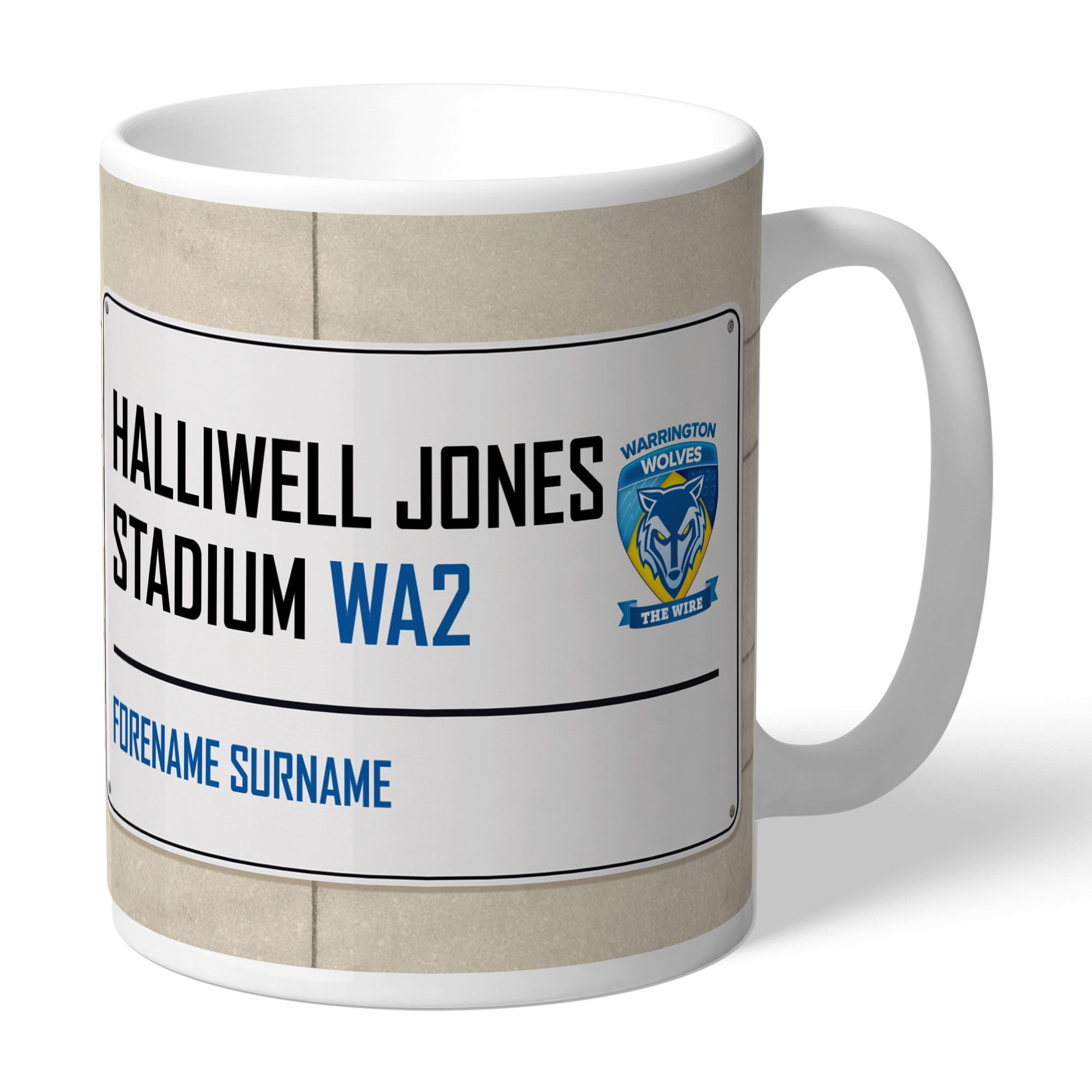 Warrington Wolves Street Sign Mug