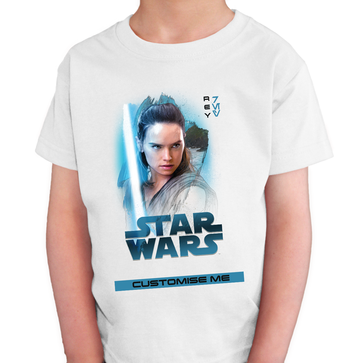 Star Wars Rey Last Jedi Spray Paint Kids T-shirt