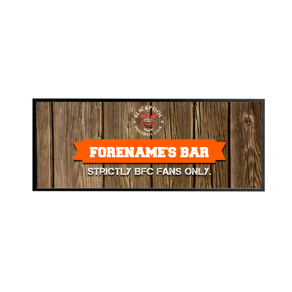 Blackpool Wood Name Regular Bar Runner