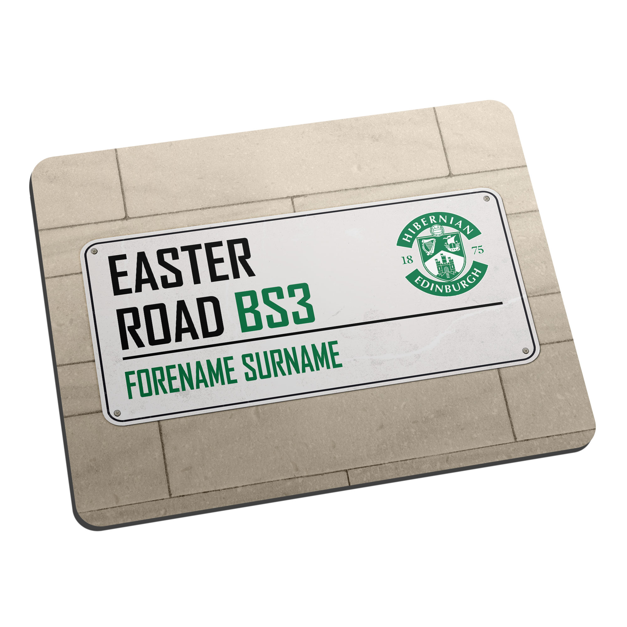 Hibernian FC Street Sign Mouse Mat